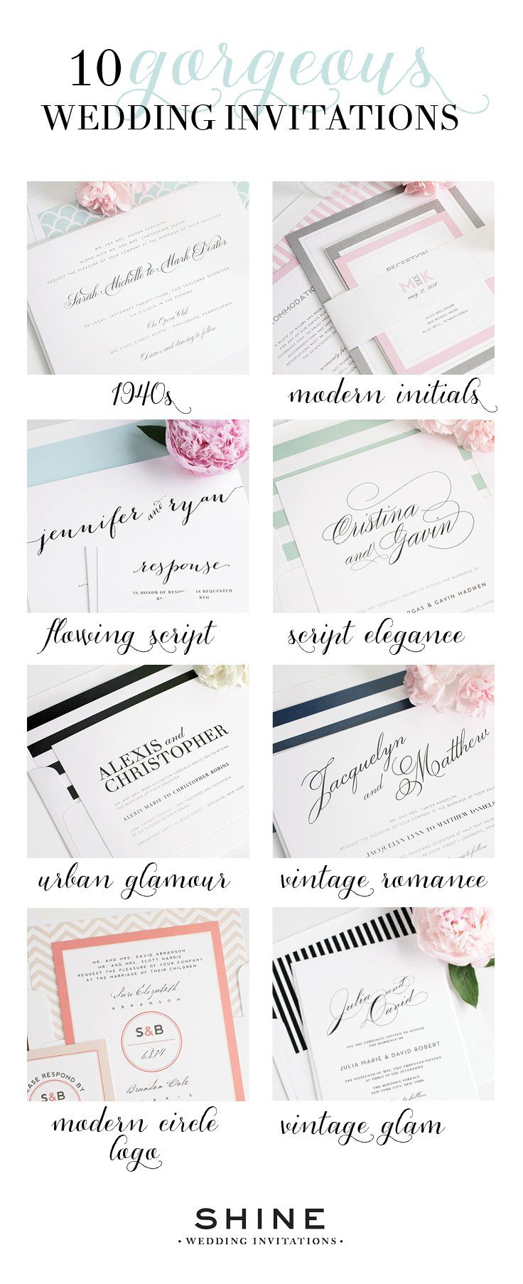 Top 10 Most Loved Wedding Invitations from Shine – Wedding Invitations