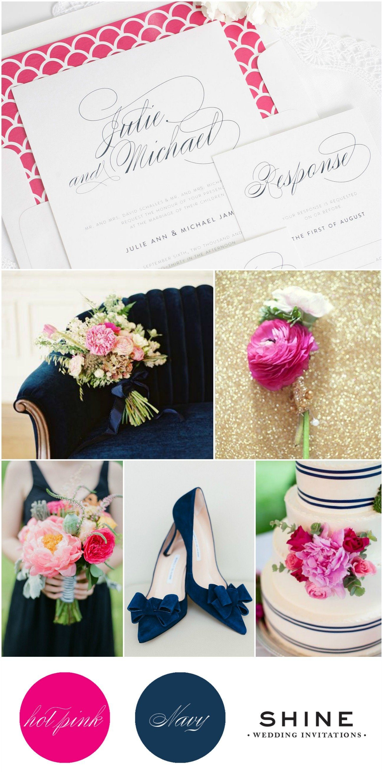 Hot Pink and Navy Wedding Inspiration