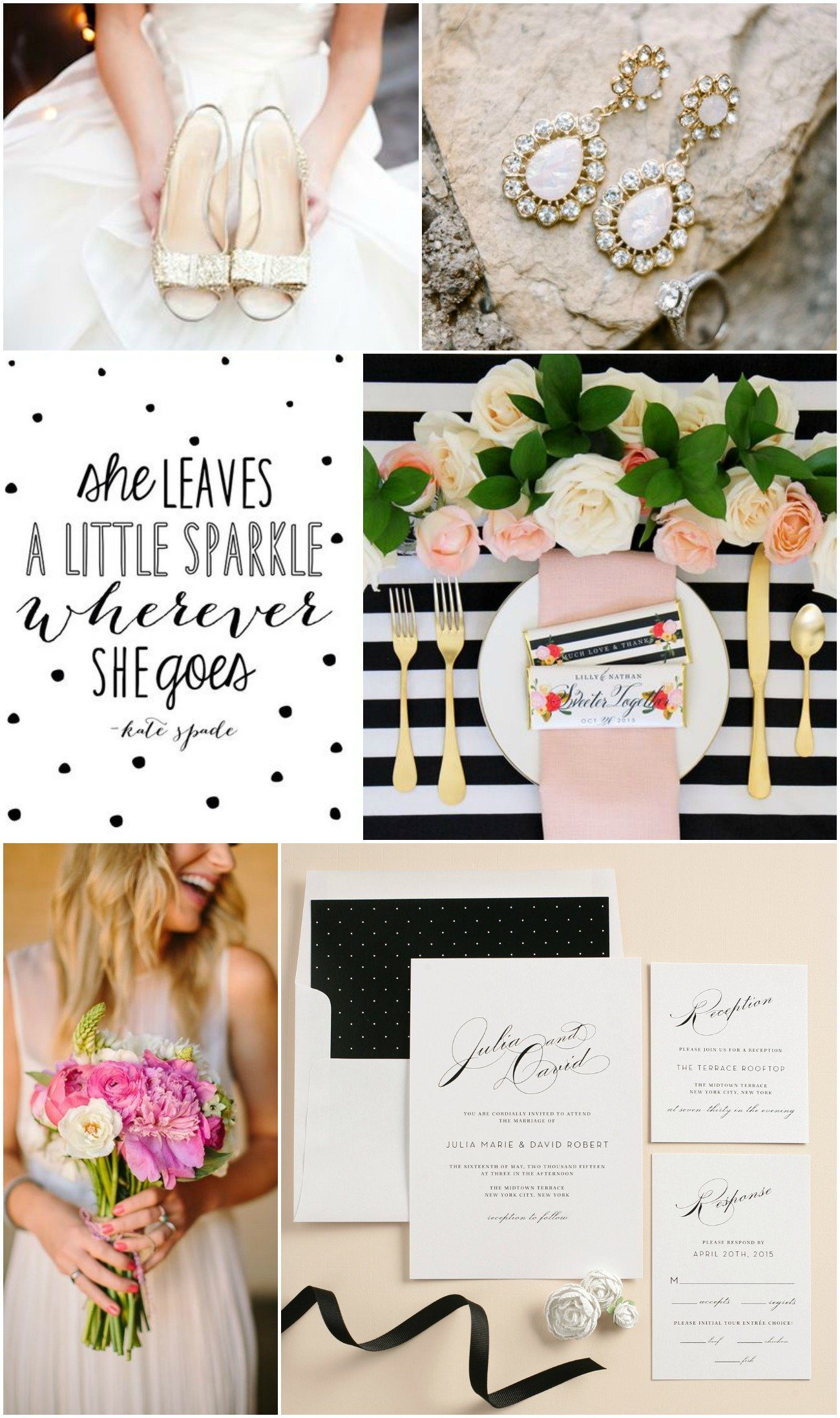 kate spade wedding inspiration – wedding invitations, Wedding invitations