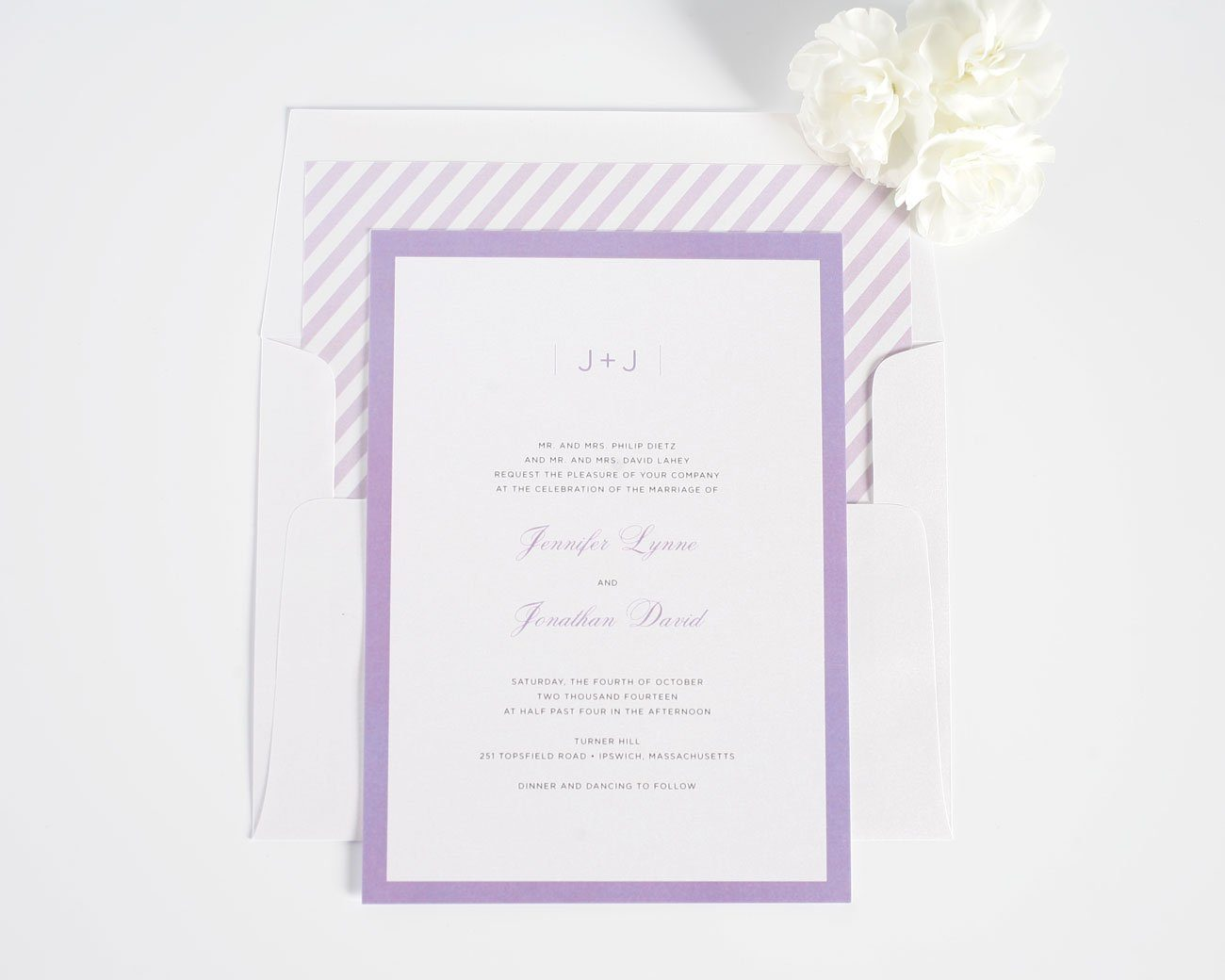 sophisticated wedding invitations in purple  u2013 wedding invitations