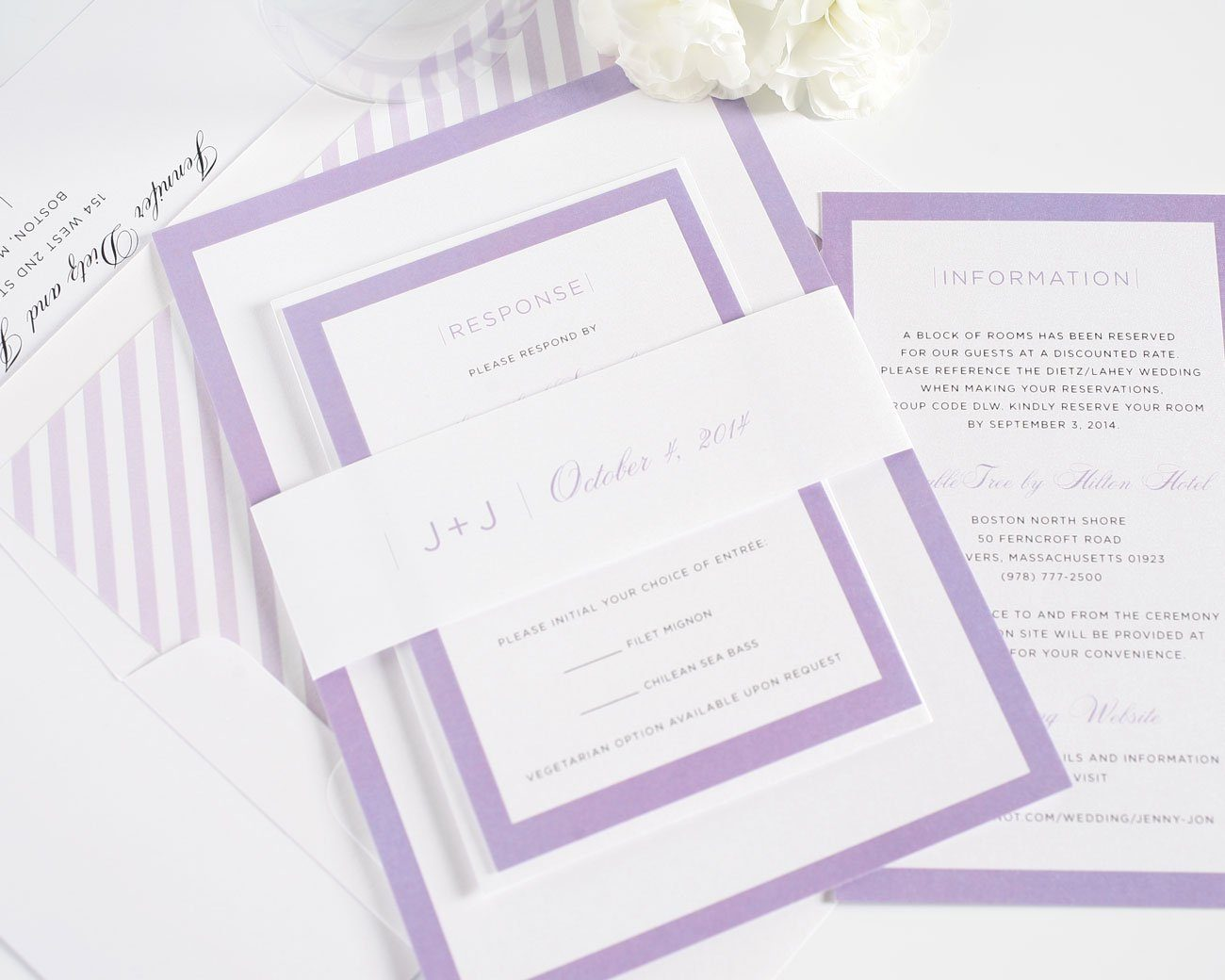 Moder Purple Wedding Invitations