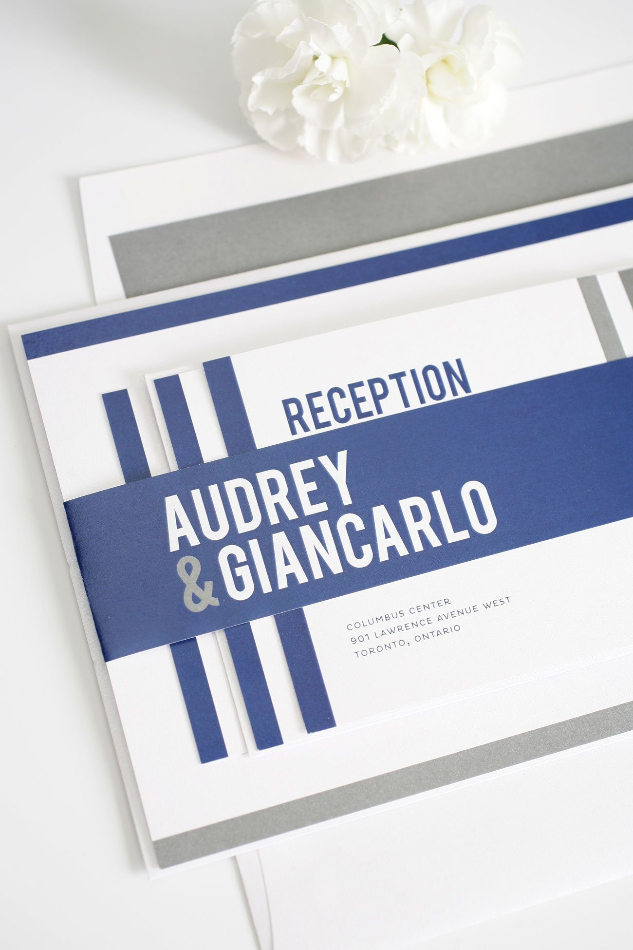 Modern masculine wedding invitations