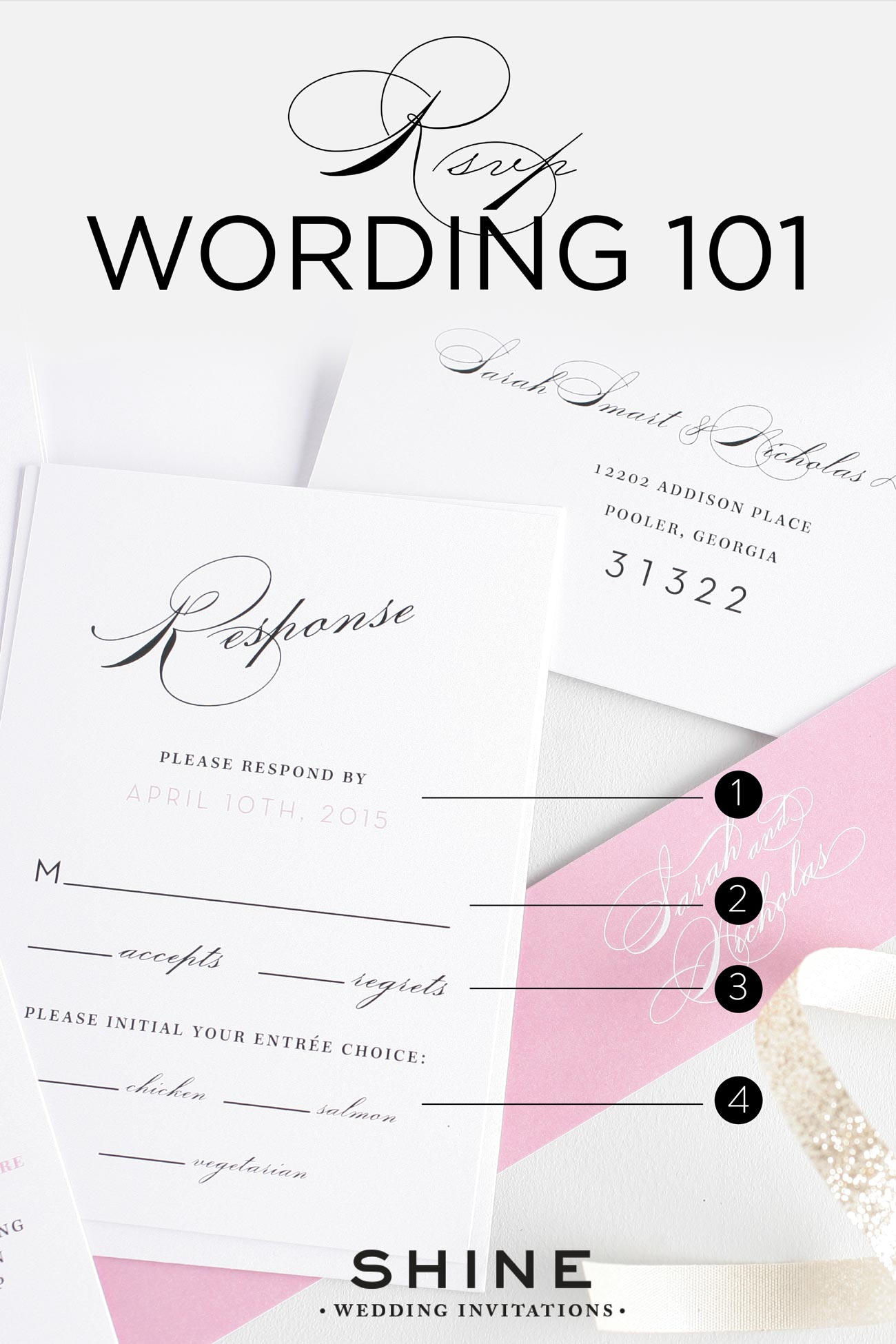 Rsvp wording 101 wedding invitations rsvp card wording 101 stopboris Choice Image