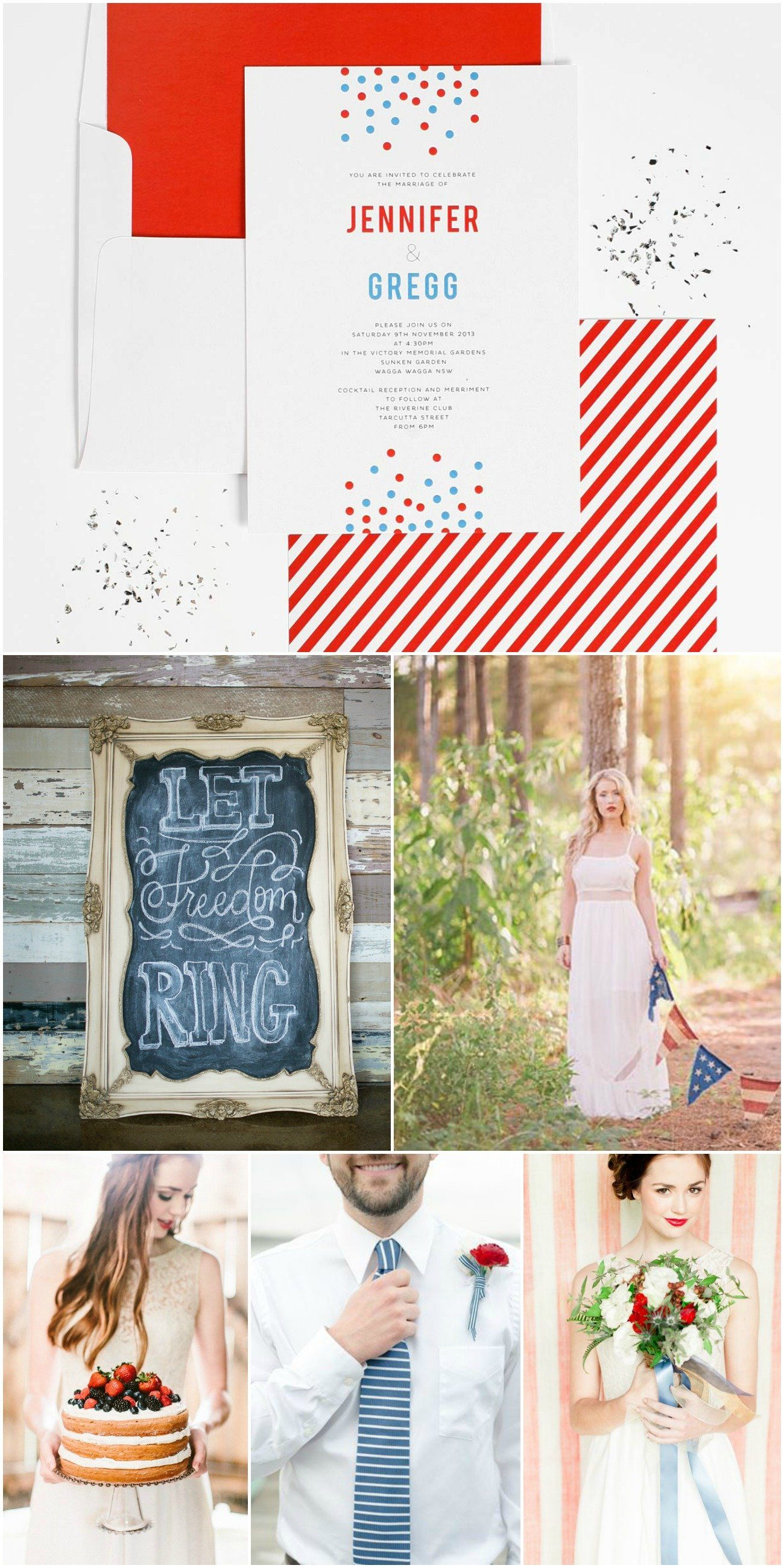 4th of July Wedding Inspiration - Red White and Blue