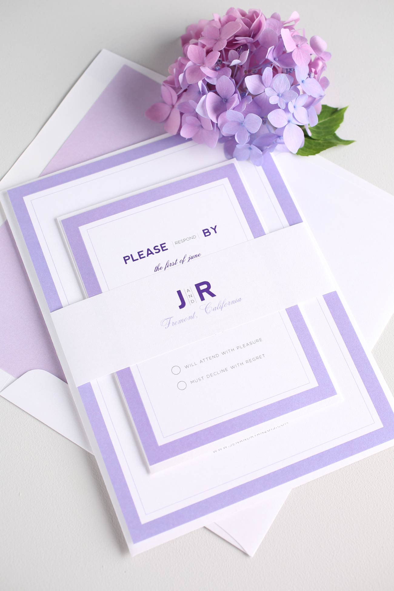 Amethyst Wedding Invitations