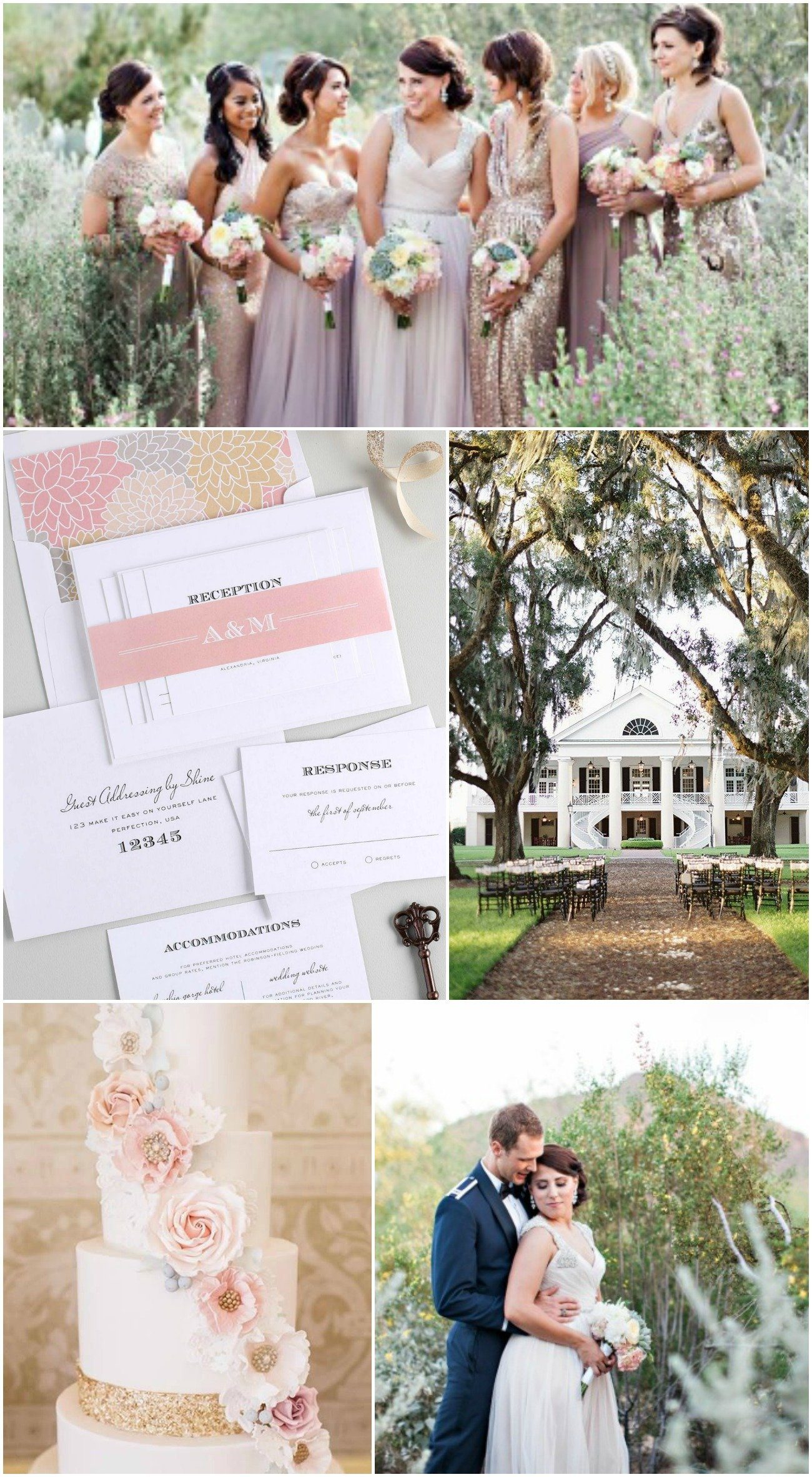 Blush + champagne southern wedding inspiration