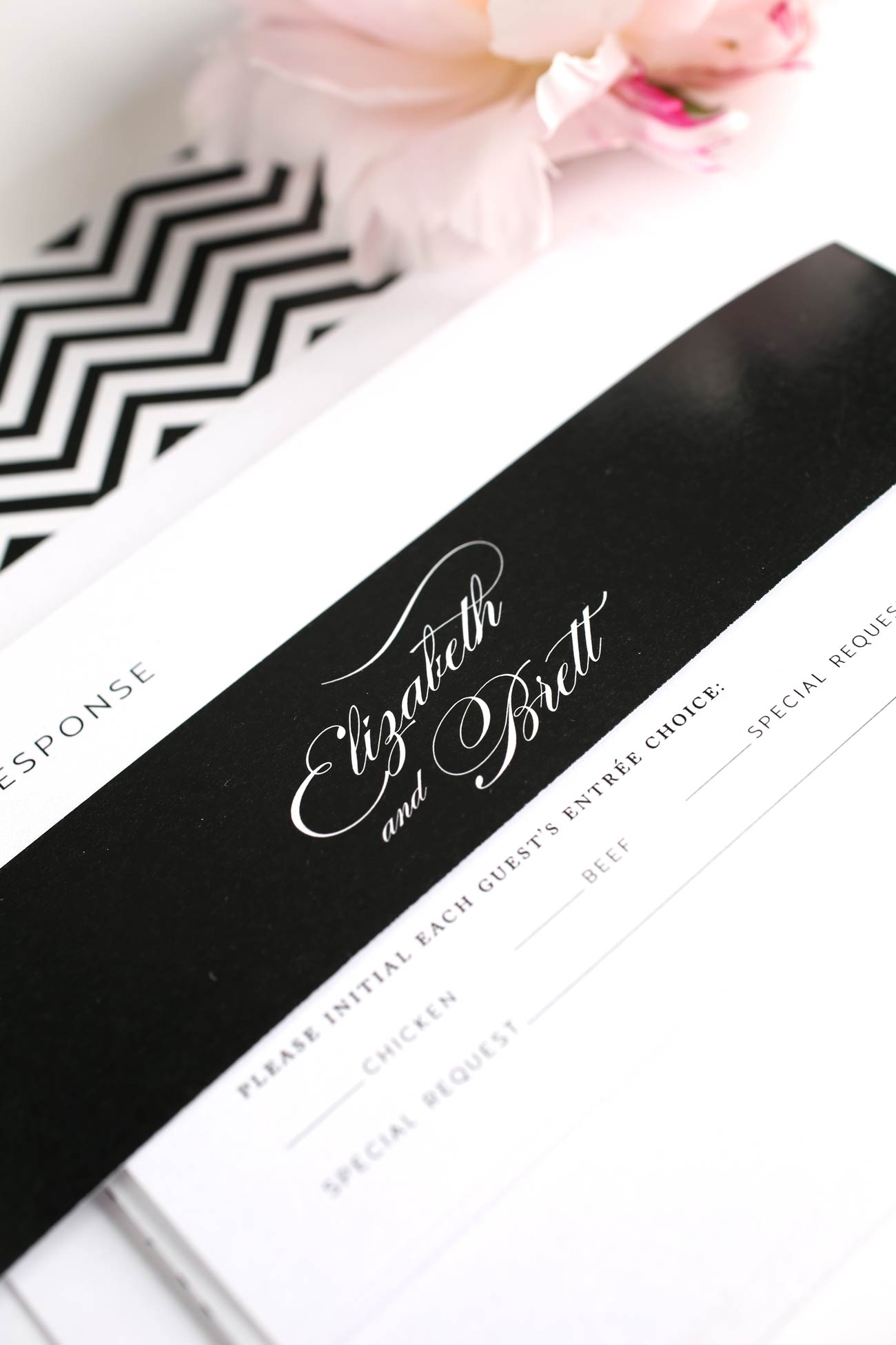 Glamorous wedding invitations