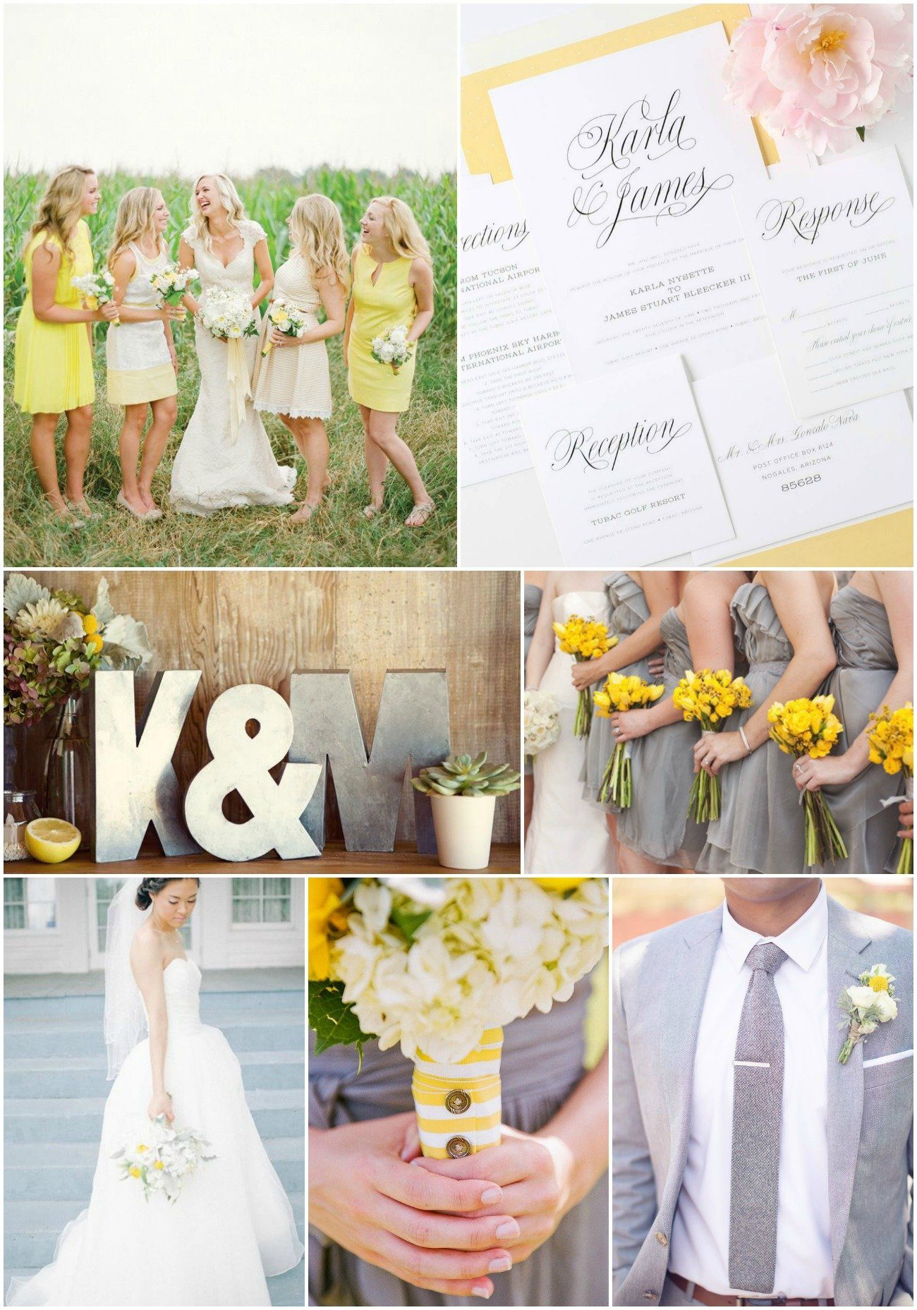 wedding ideas yellow and gray yellow wedding invitations 28367