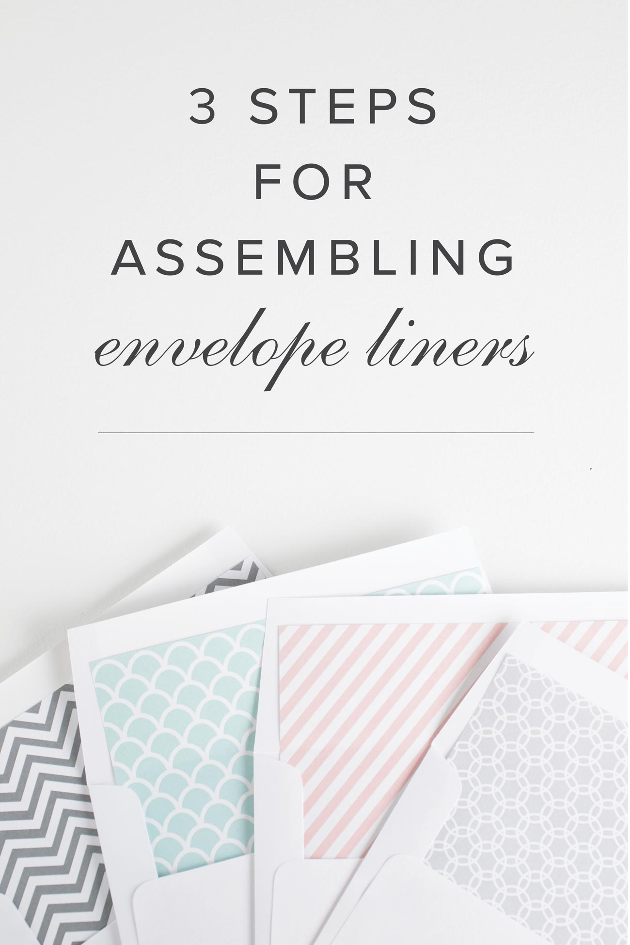 How to insert envelope liners