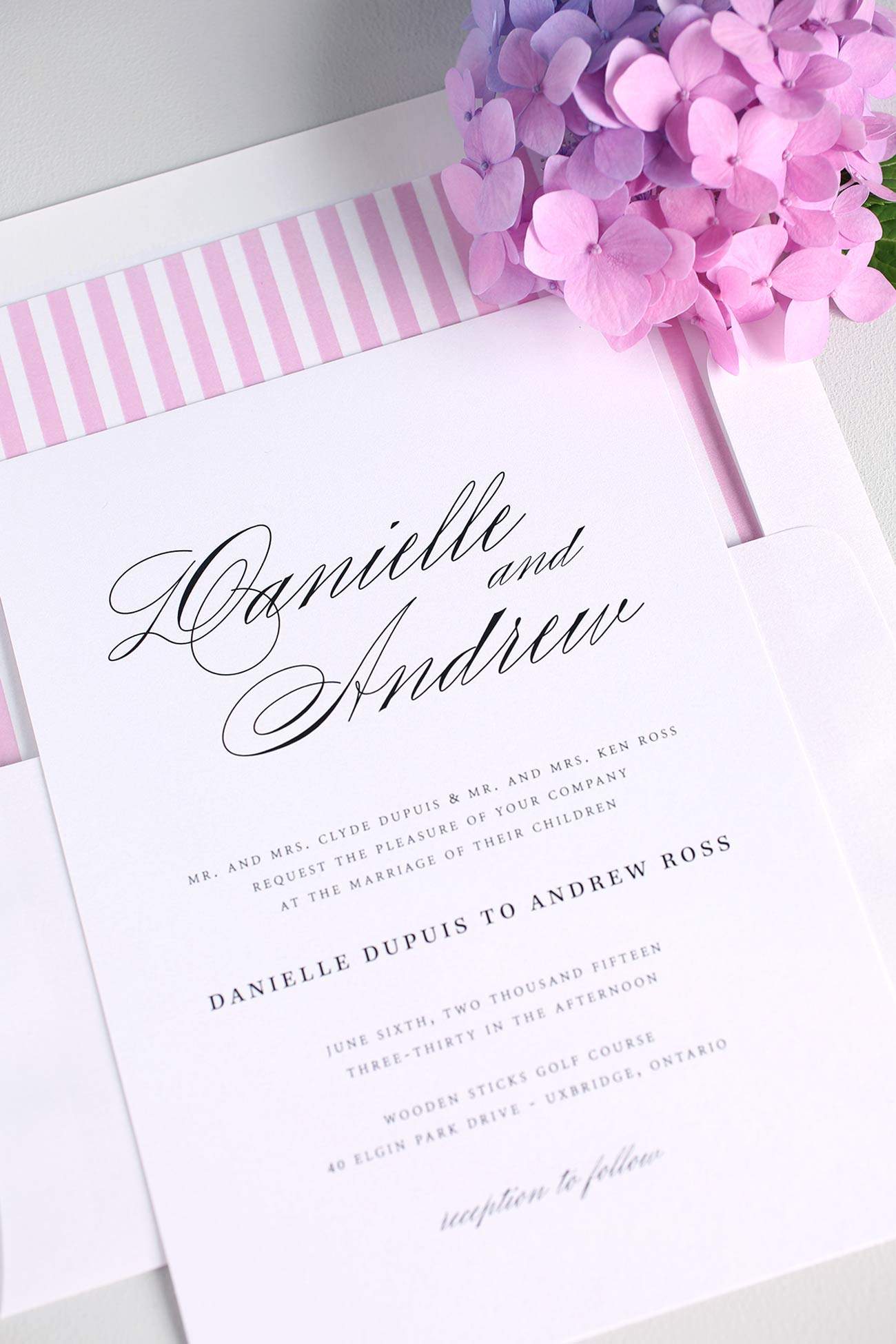 Timeless and classic wedding invitations