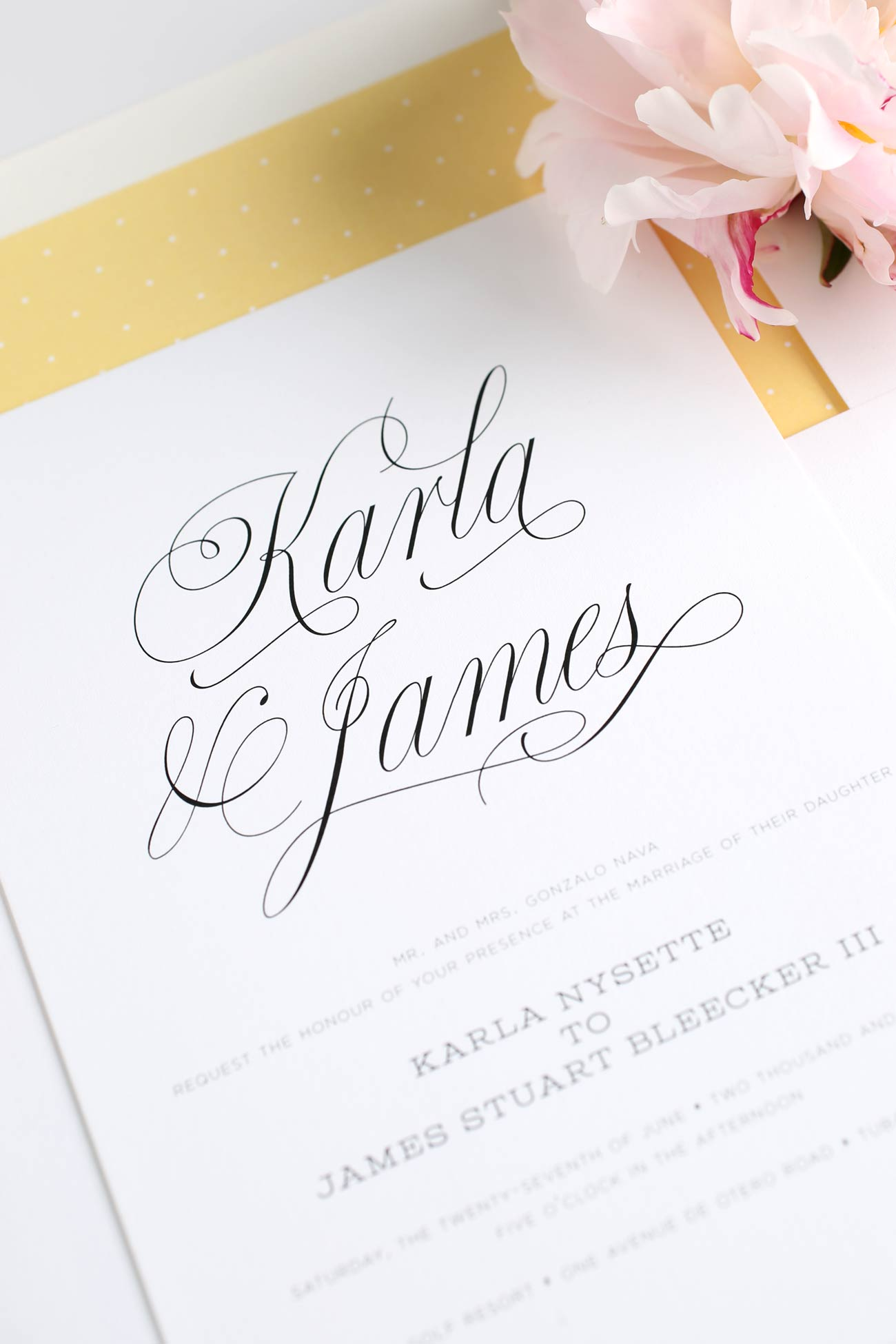 Yellow Garden Wedding Invitations