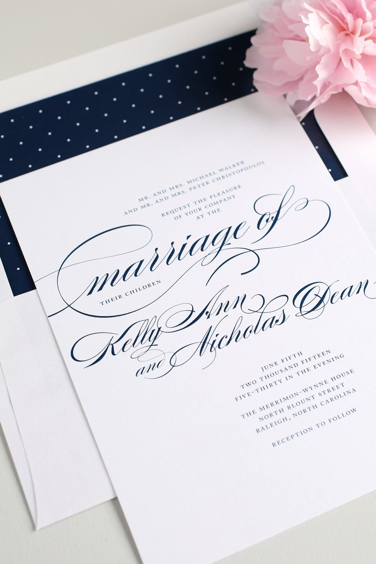 navy script wedding invitations  u2013 wedding invitations