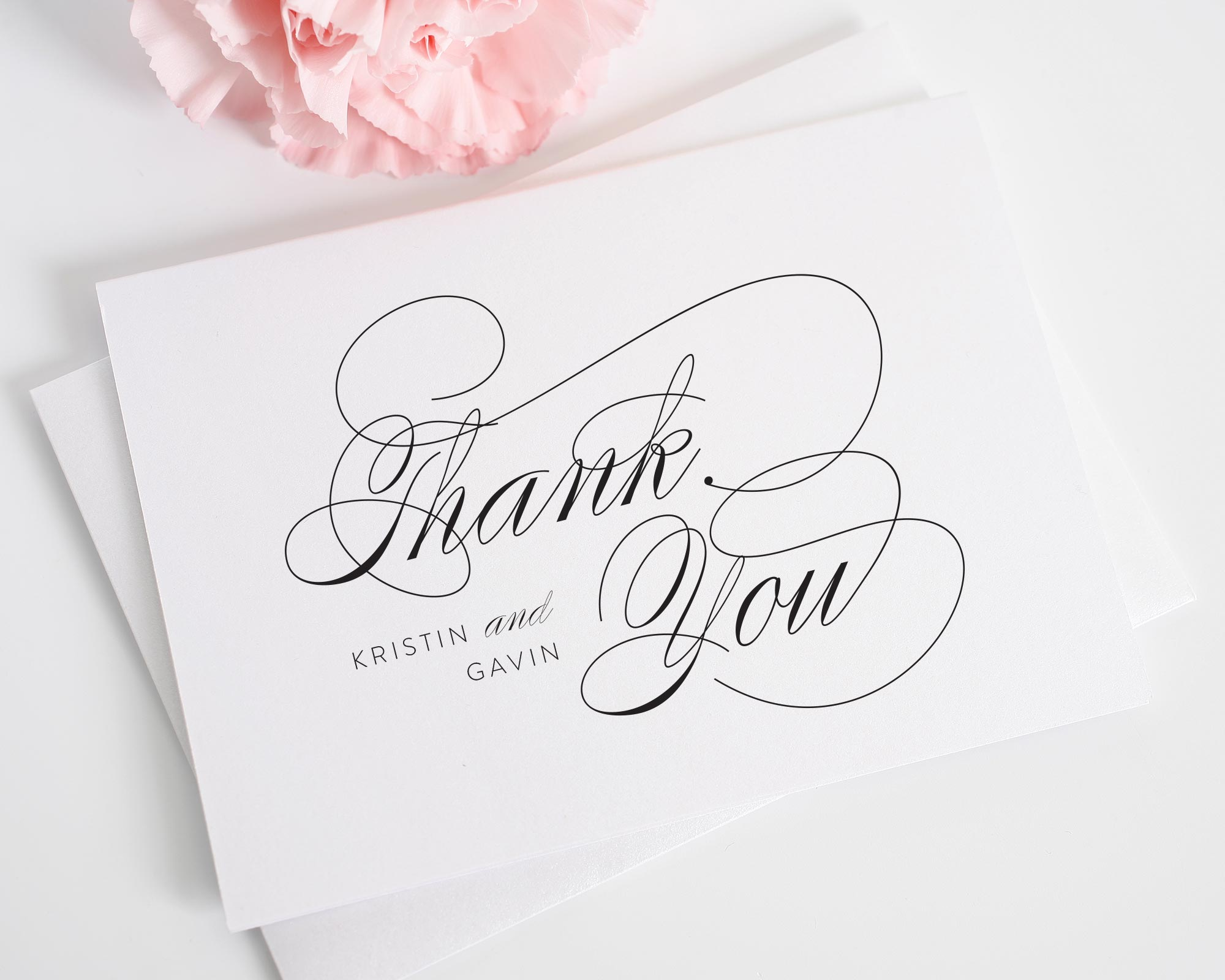 Script Elegance Thank You Card