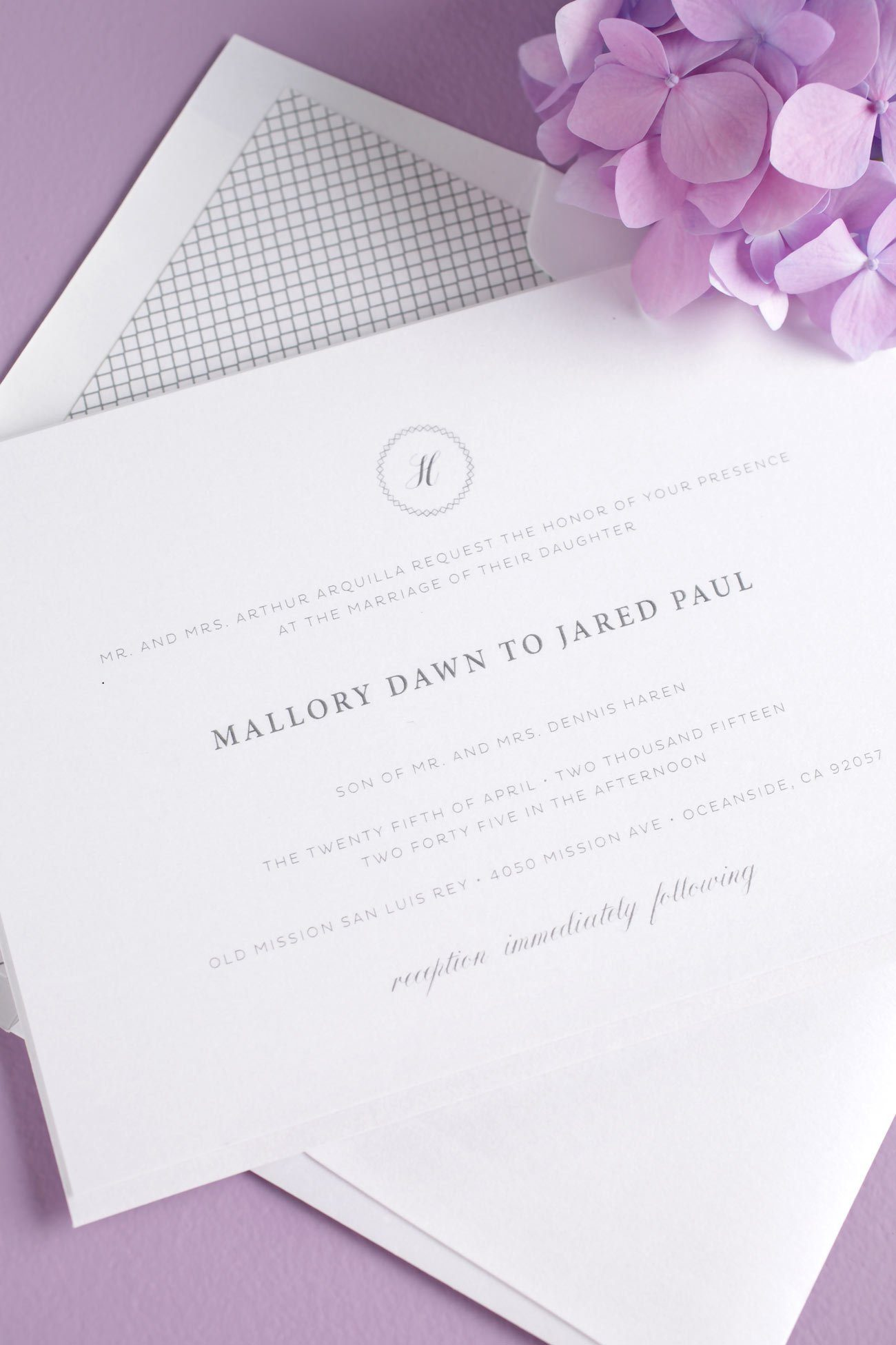 Gray Vintage Wedding Invitations