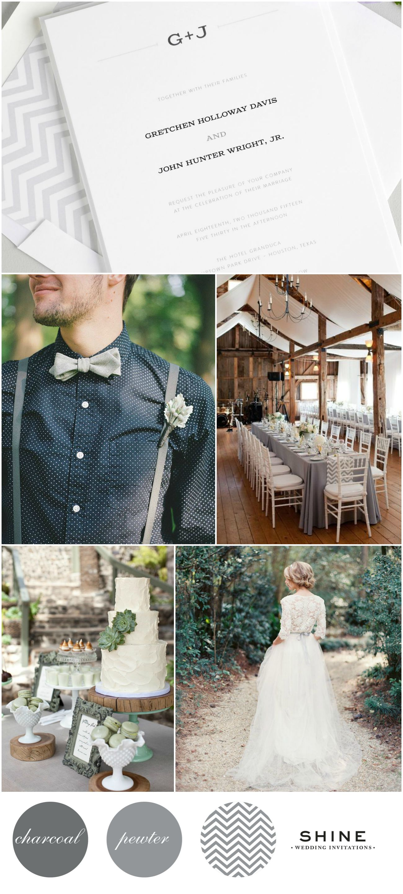 Rustic Wedding Inspiration with succulents and chevron accents