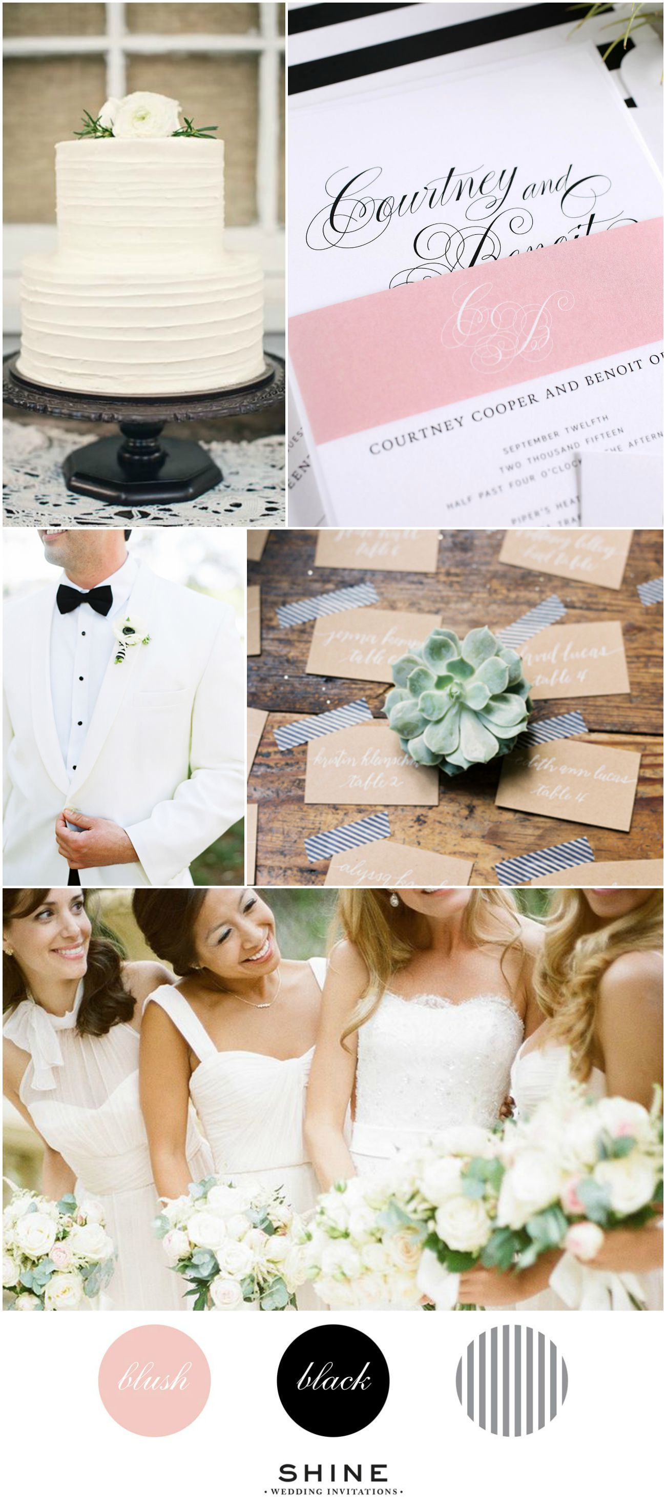 Southern Blush, Black and White Striped Wedding Inspiration