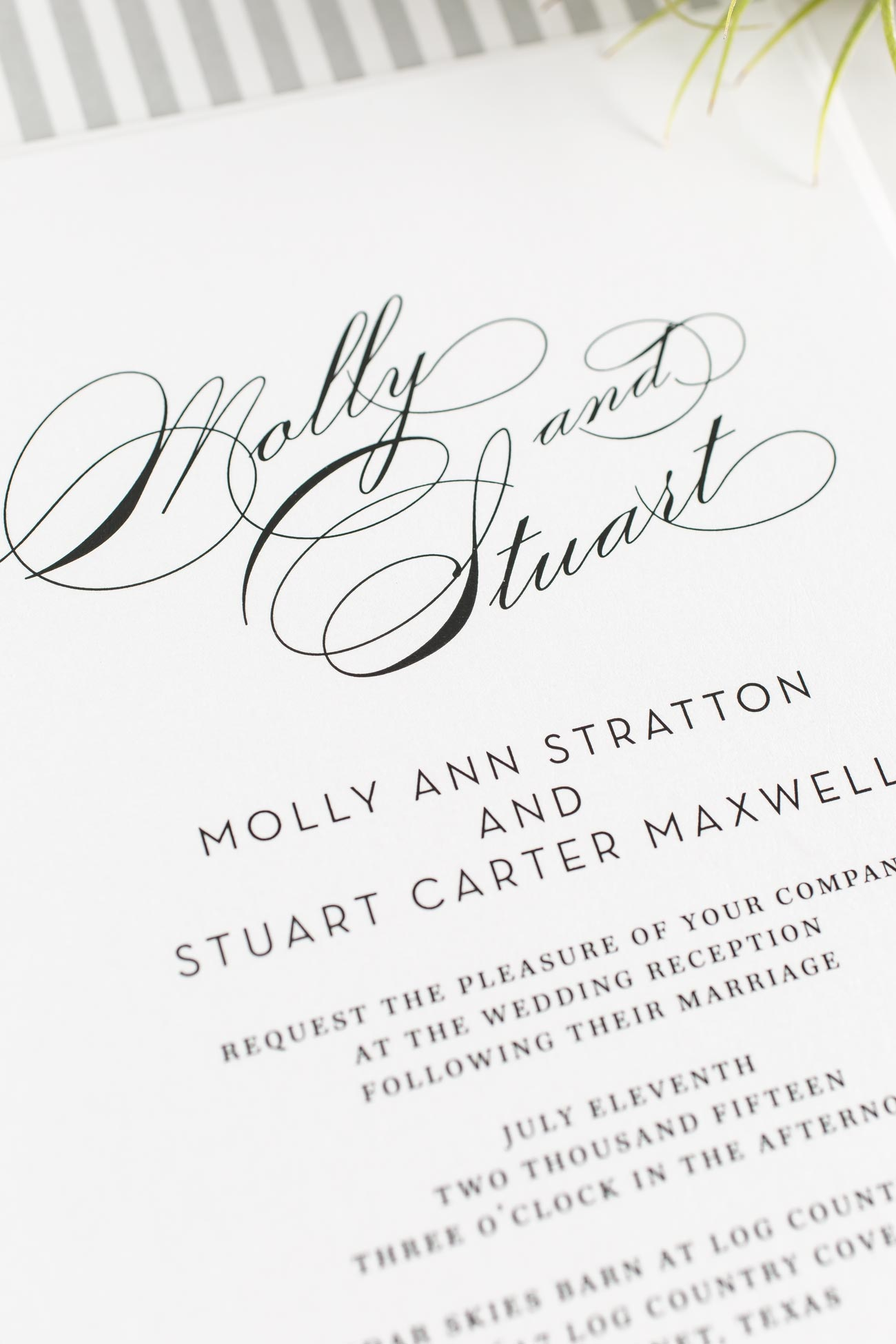 Glam Wedding Invitations in Gray