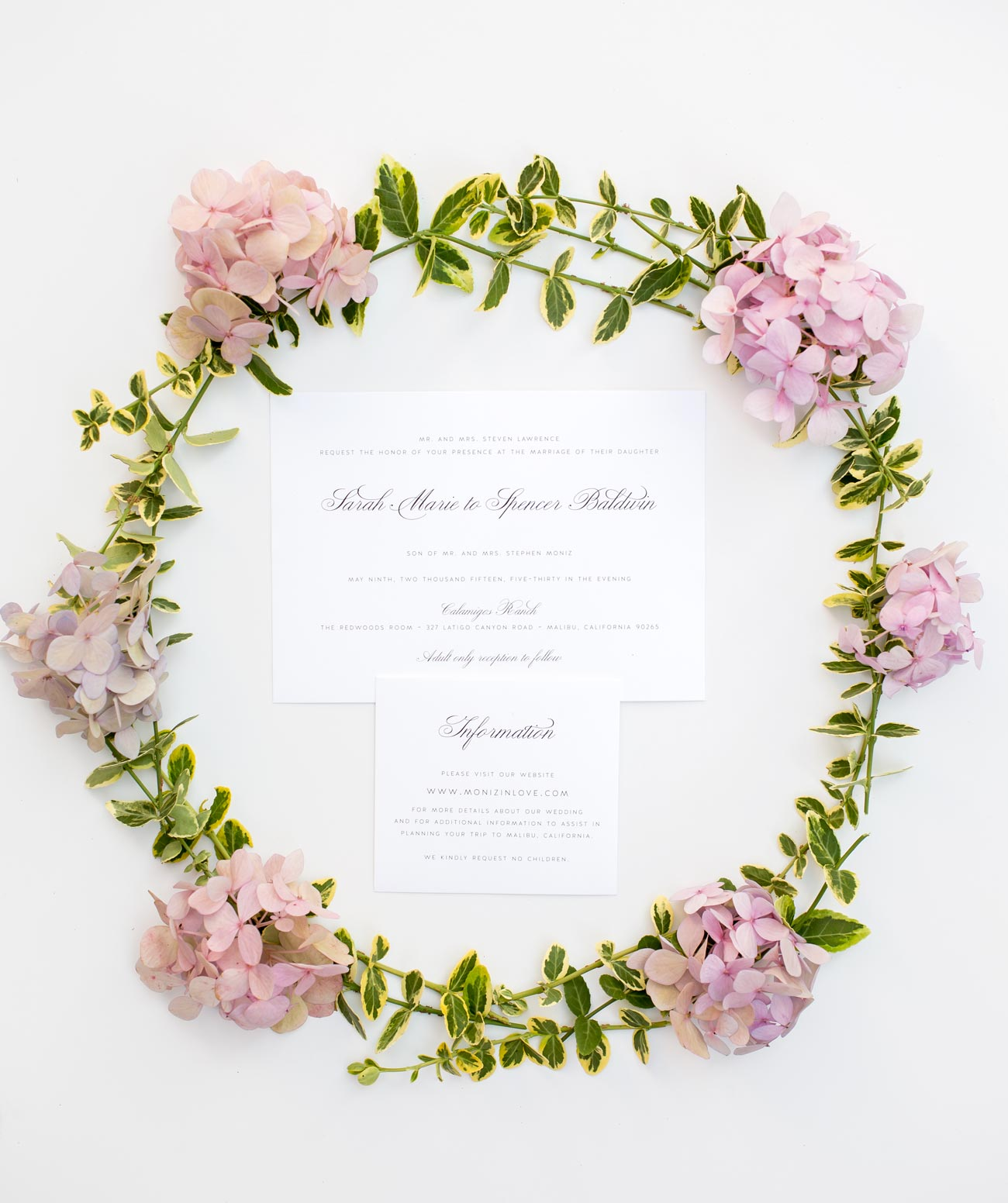 Vintage Floral Wedding Inspiration Wedding Invitations