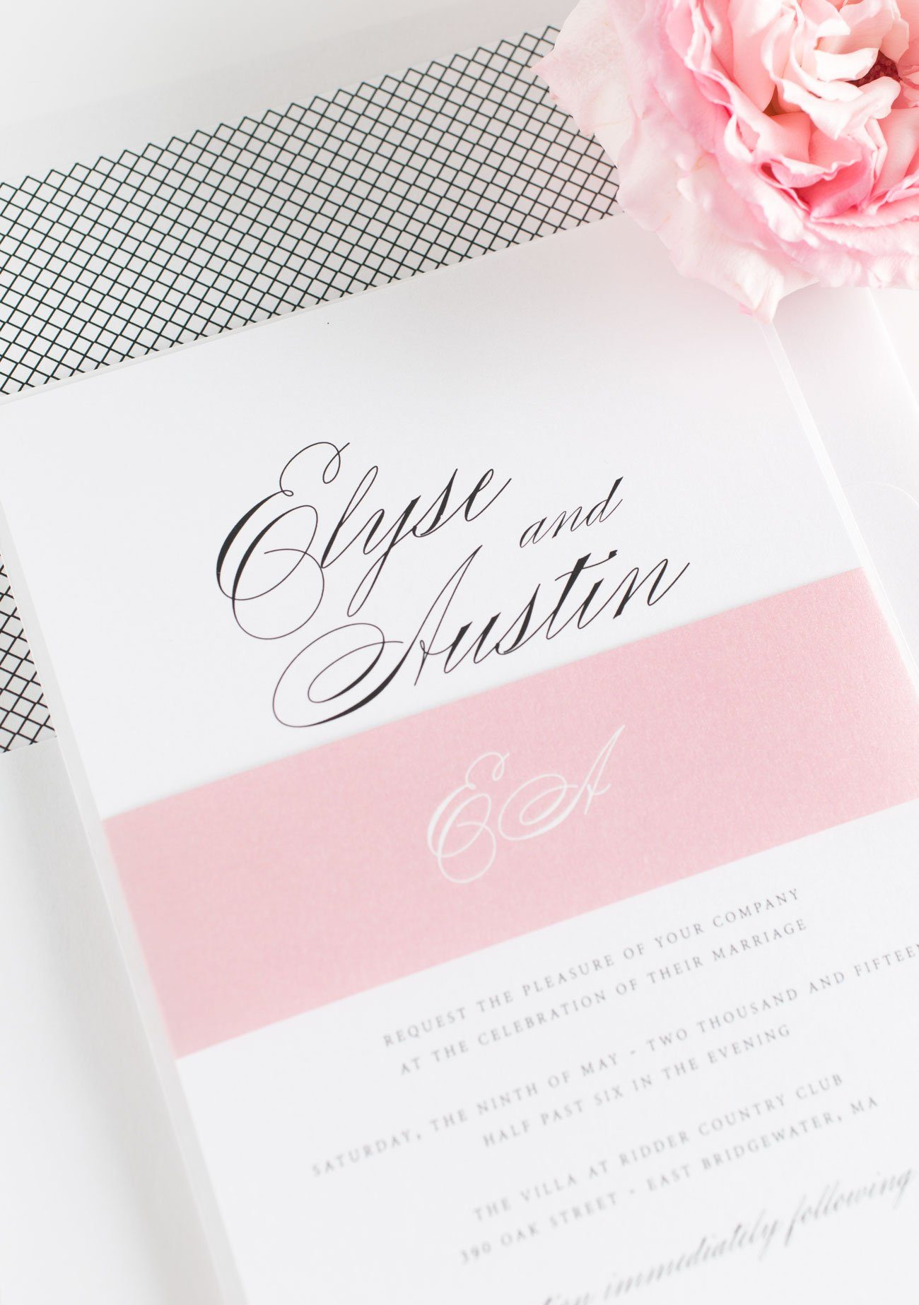 Rose Quartz wedding Invitations
