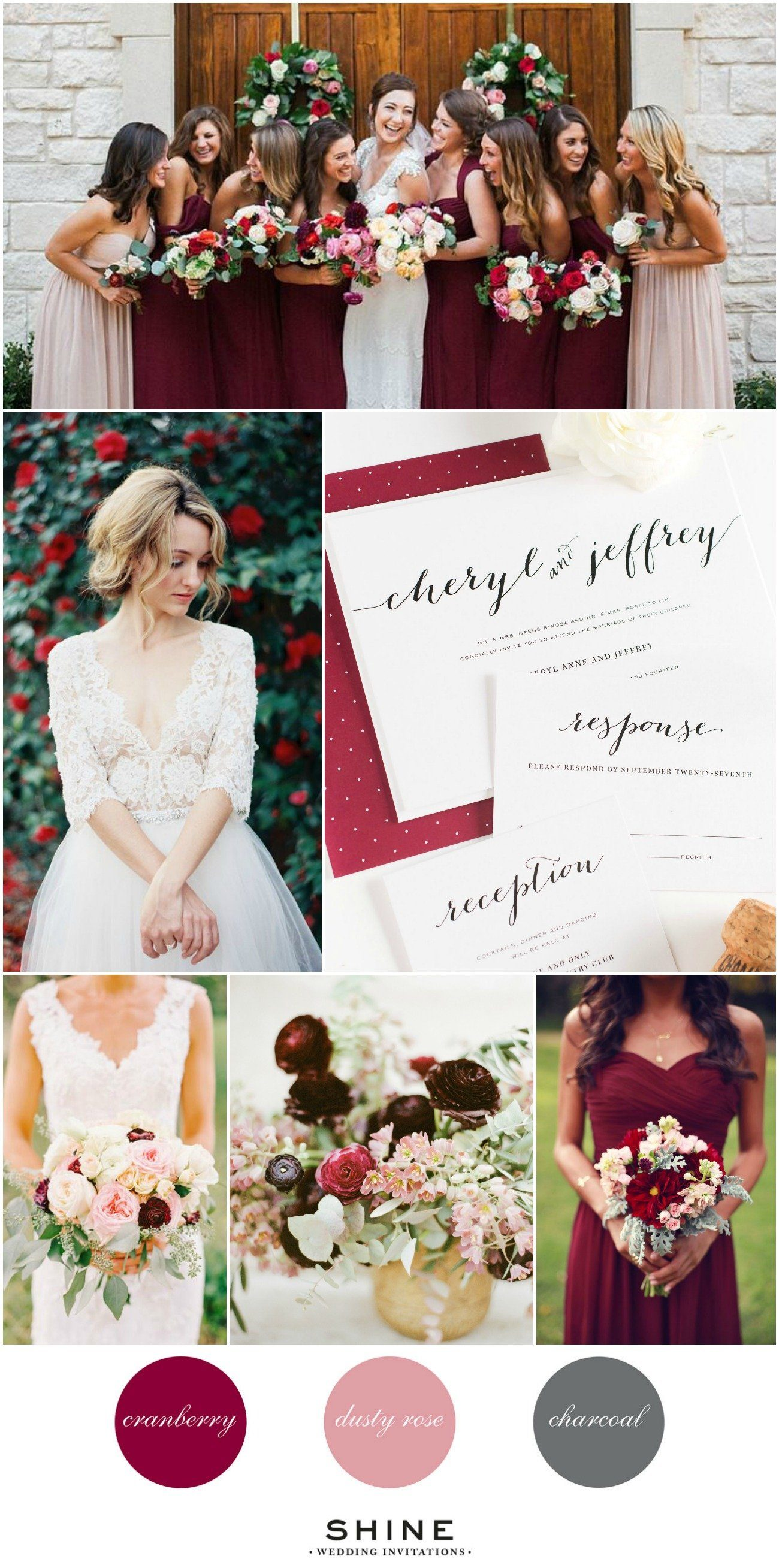 Cranberry and Blush Wedding Inspiration