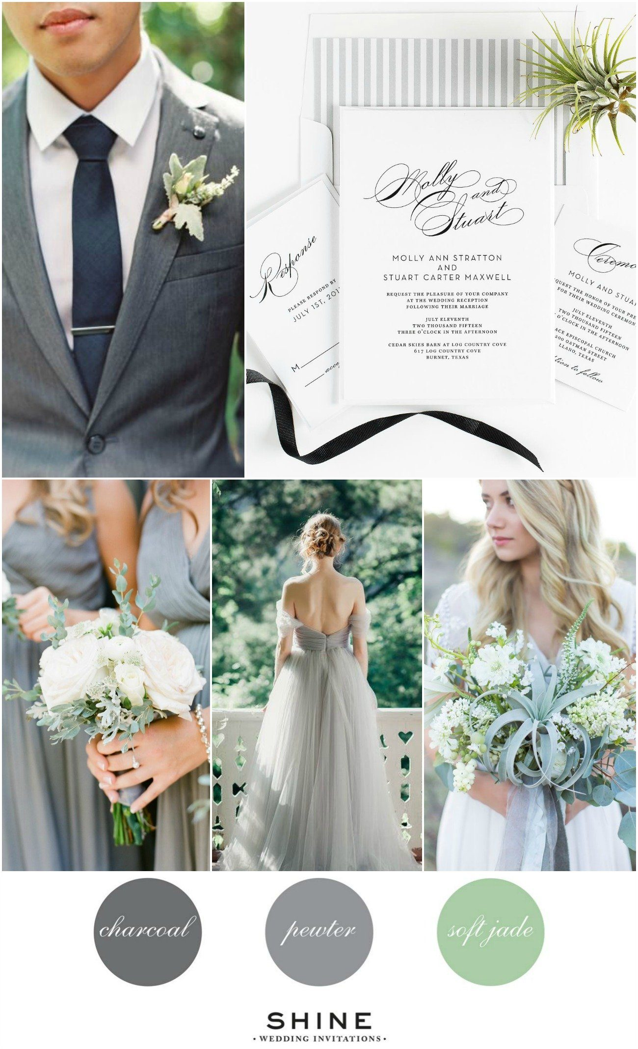Vintage Gray Jade Wedding Inspiration
