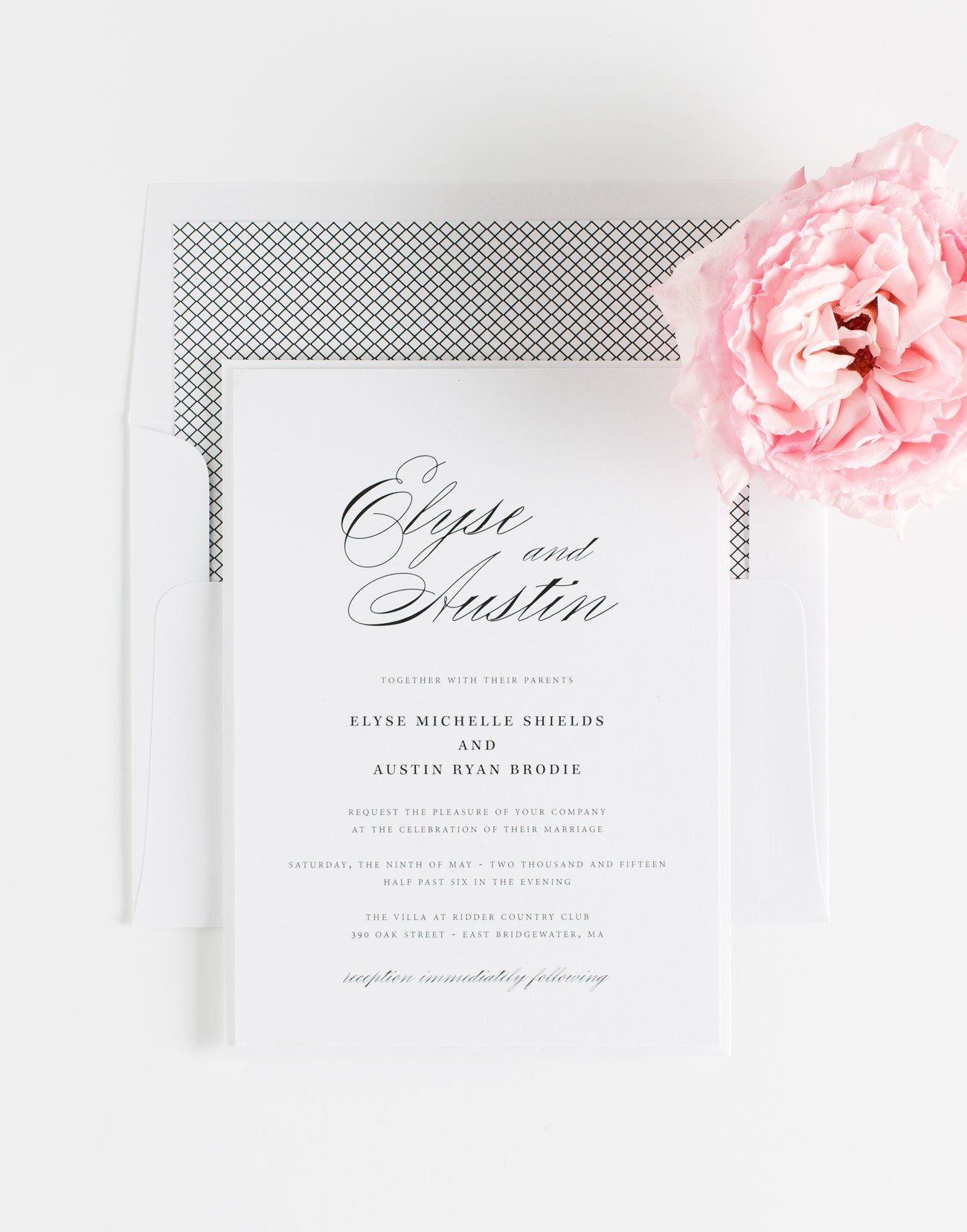 Timeless Script Wedding Invitations