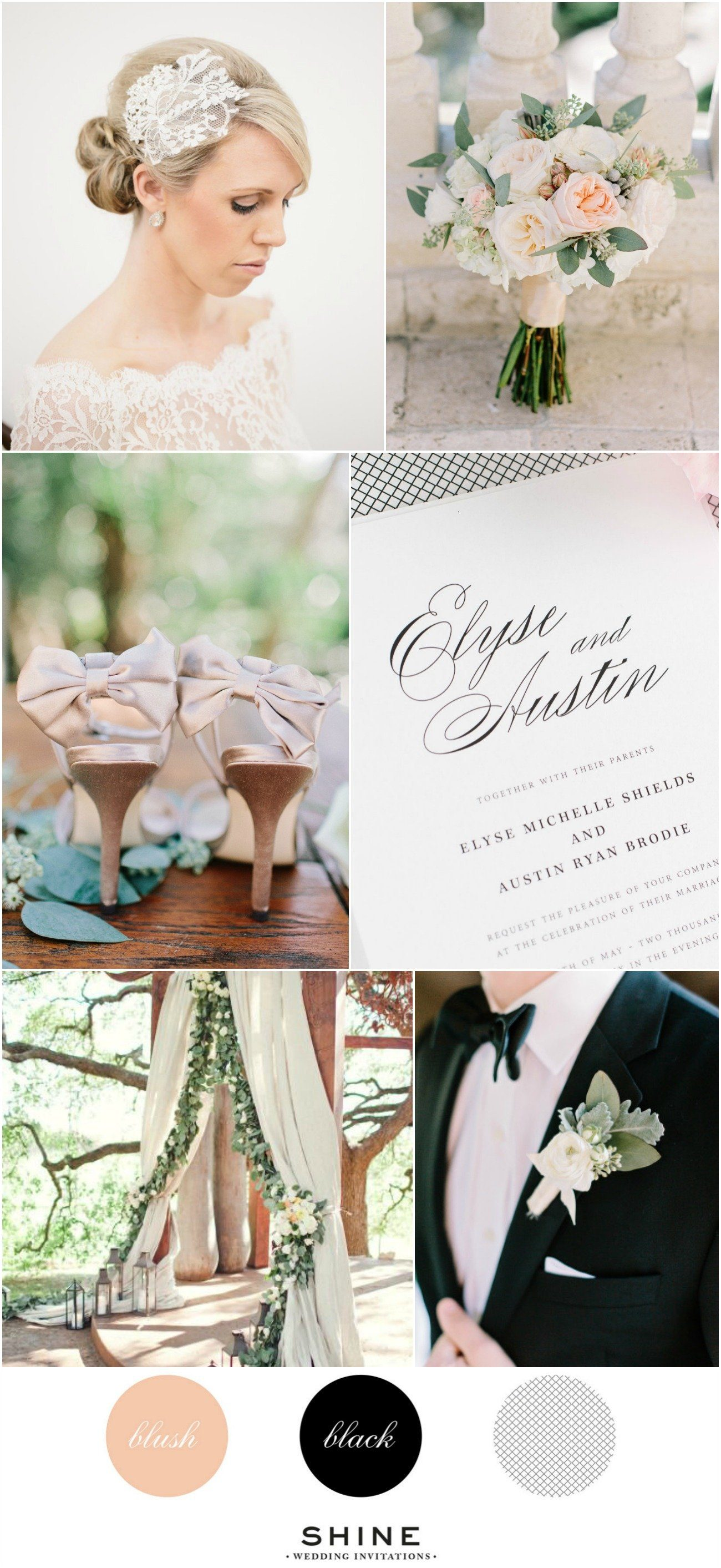 Classic Blush and Black Wedding Inspiration