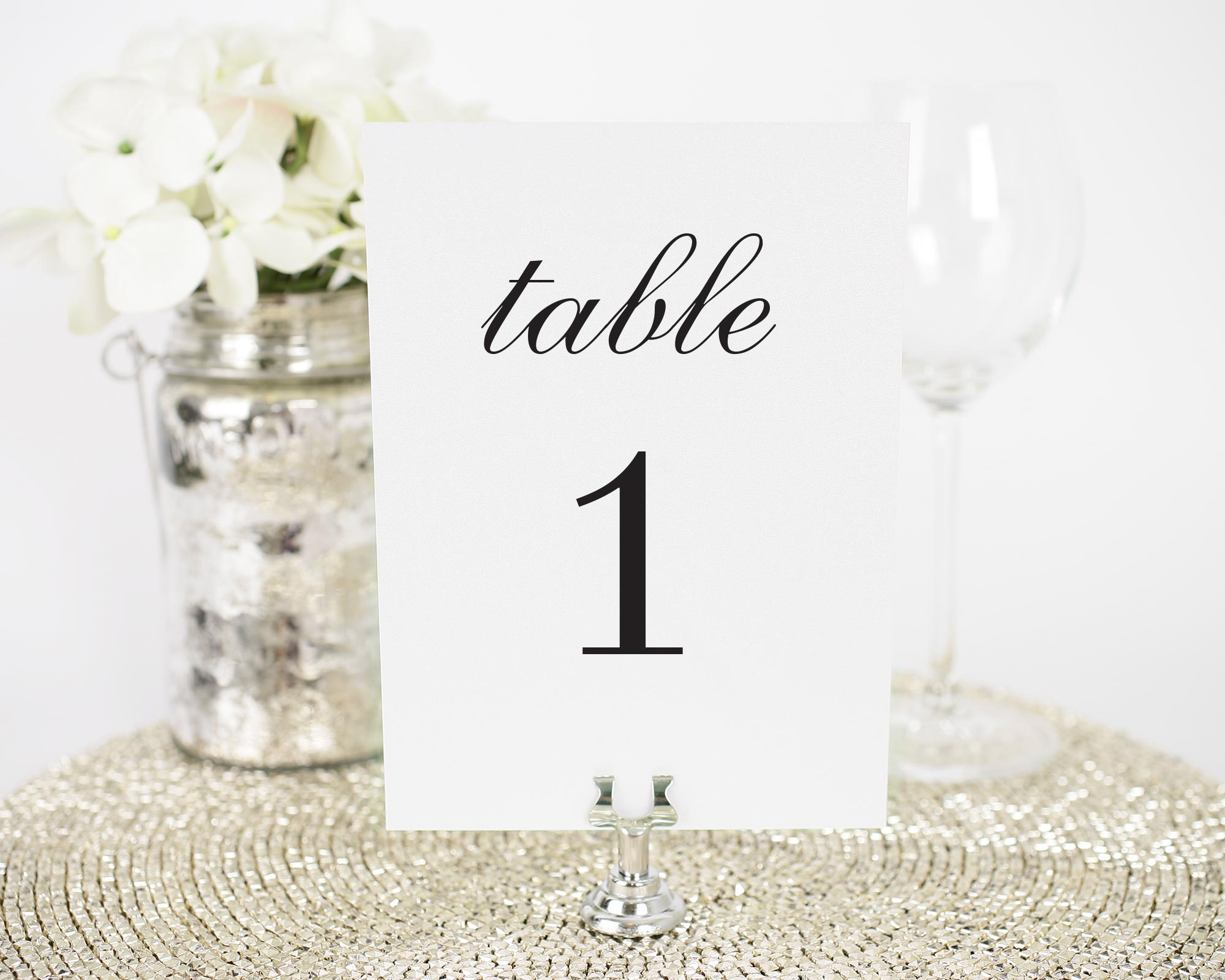 Urban Glamour Table Number