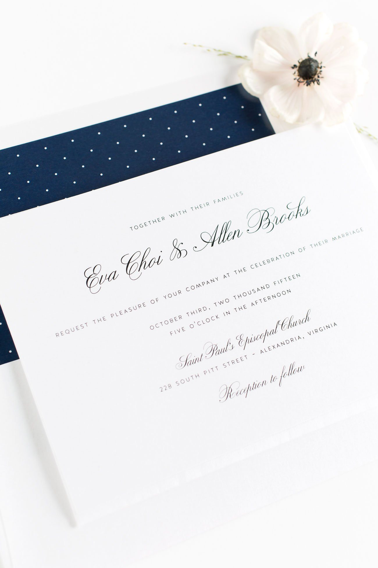 Vintage Calligraphy Wedding Invitations