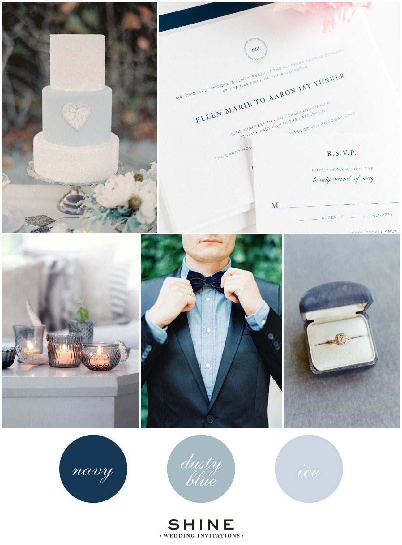 Blue Hues Wedding Invitations