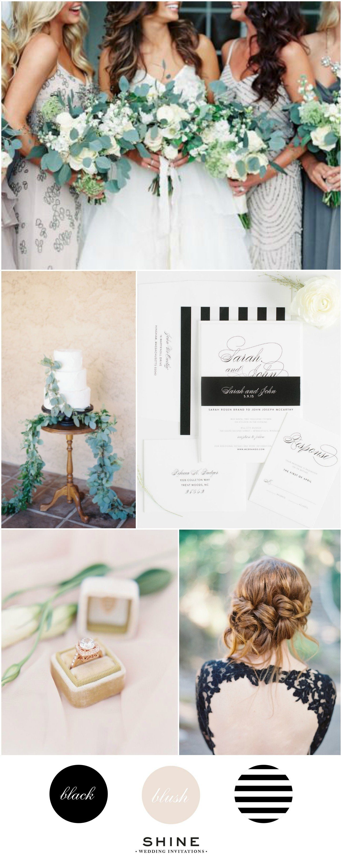 Blush, Black, and White Striped Wedding Inspiration