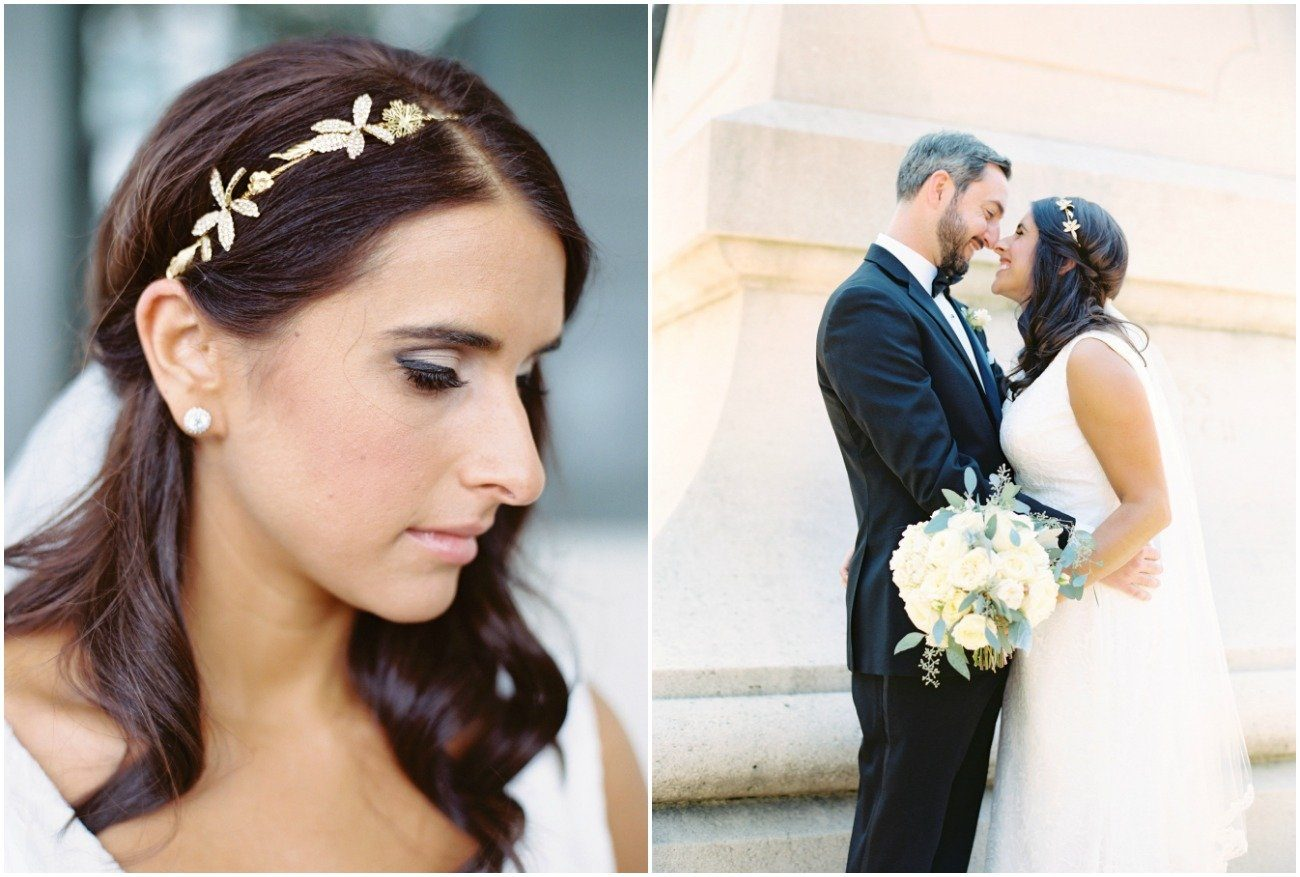 Delicate gold hairpiece