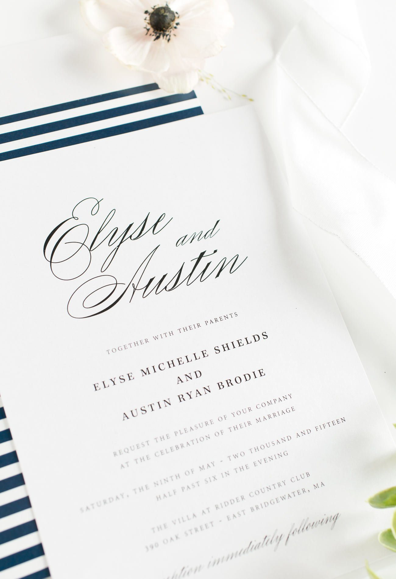Timeless and Elegant Wedding Invitations