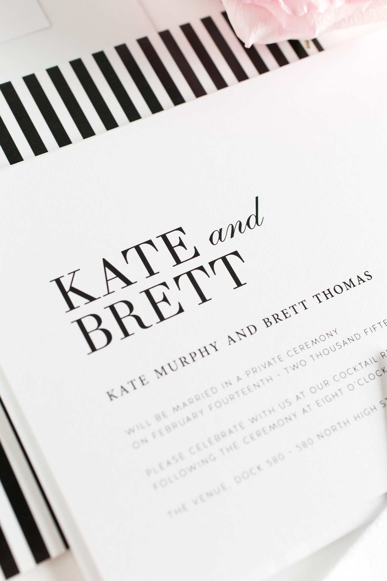 Urban Wedding Invites