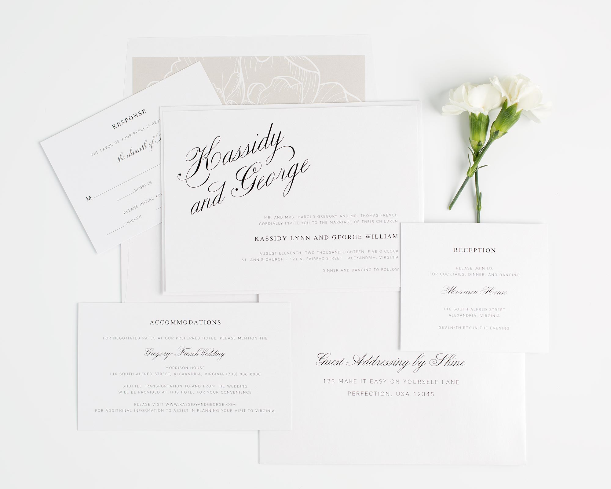 Charming Southern Wedding Invitations