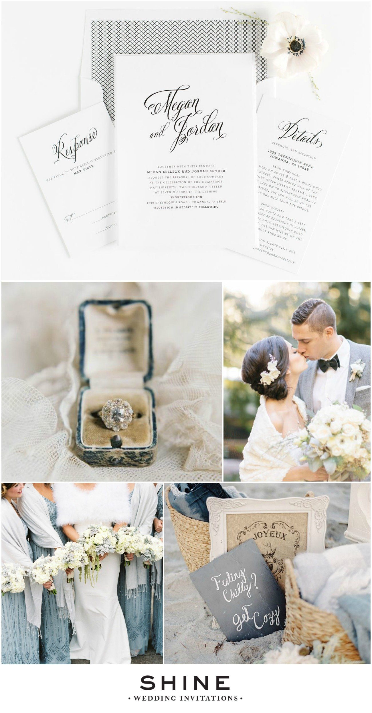 Winter Elegance Gray Wedding Inspiration