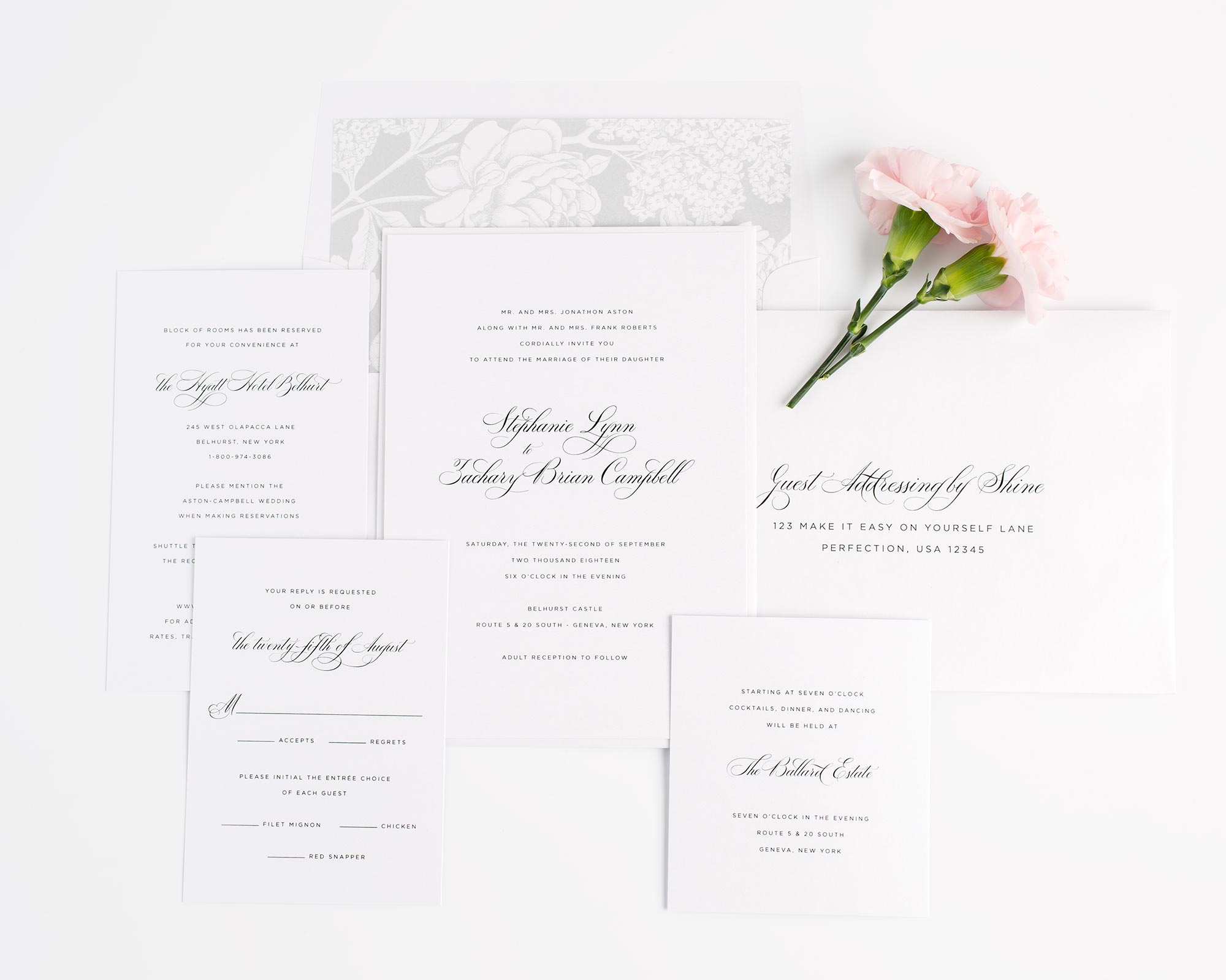 Classic Wedding Invitations in Silver Gray