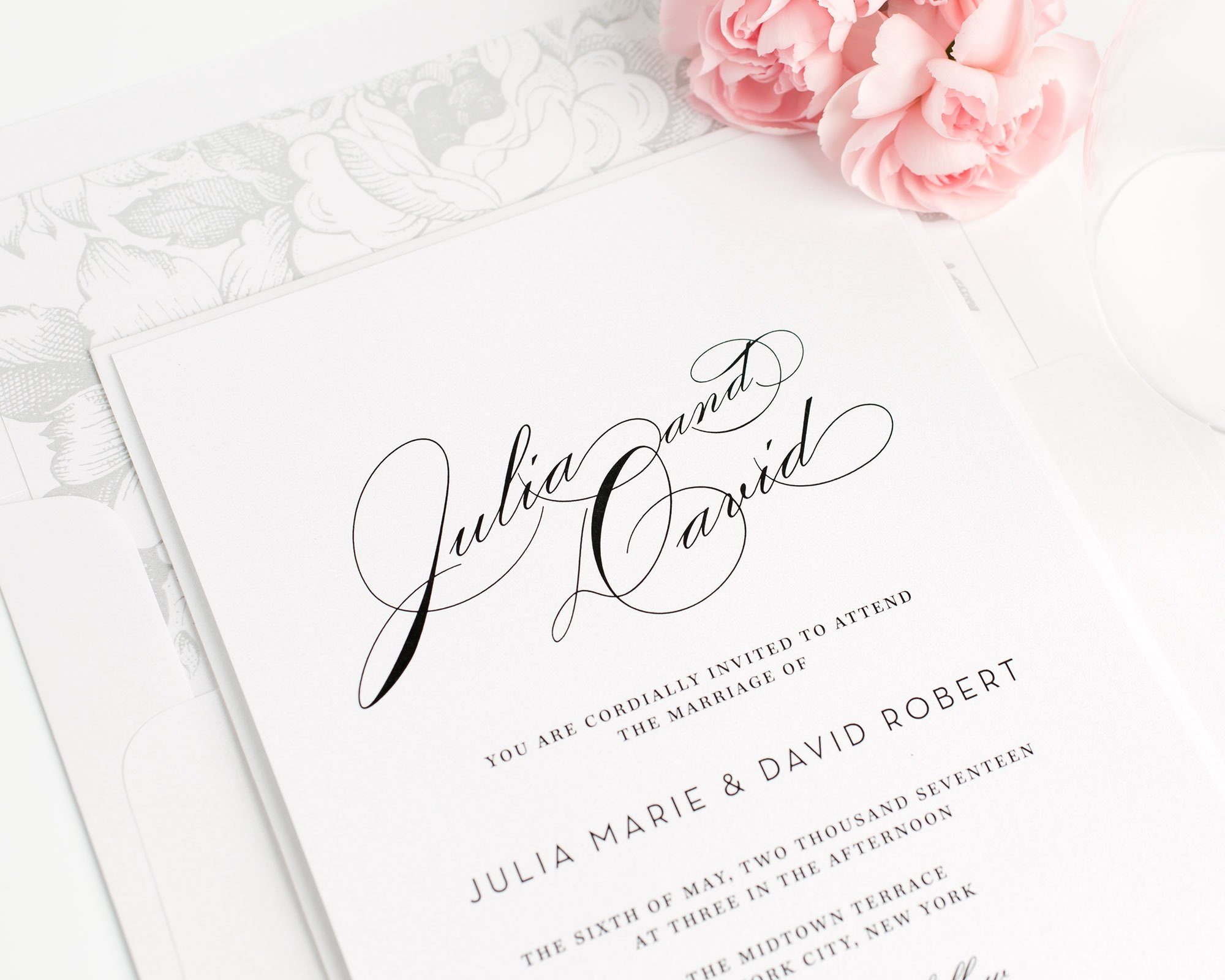 Search results for large names page 4 wedding invitations vintage floral wedding invitations in gray monicamarmolfo Image collections