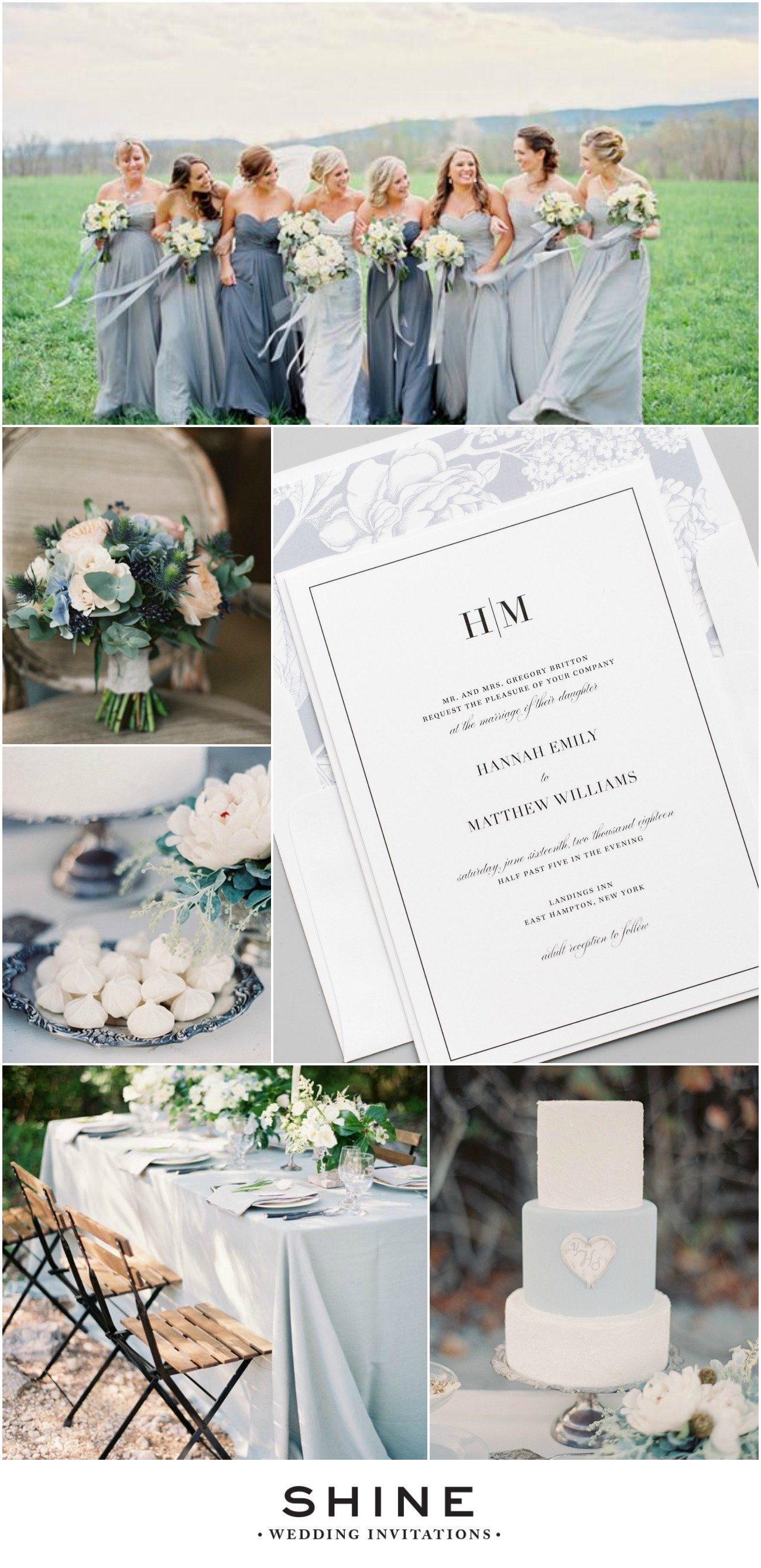 Dusty Blue and Gray Wedding Inspiration