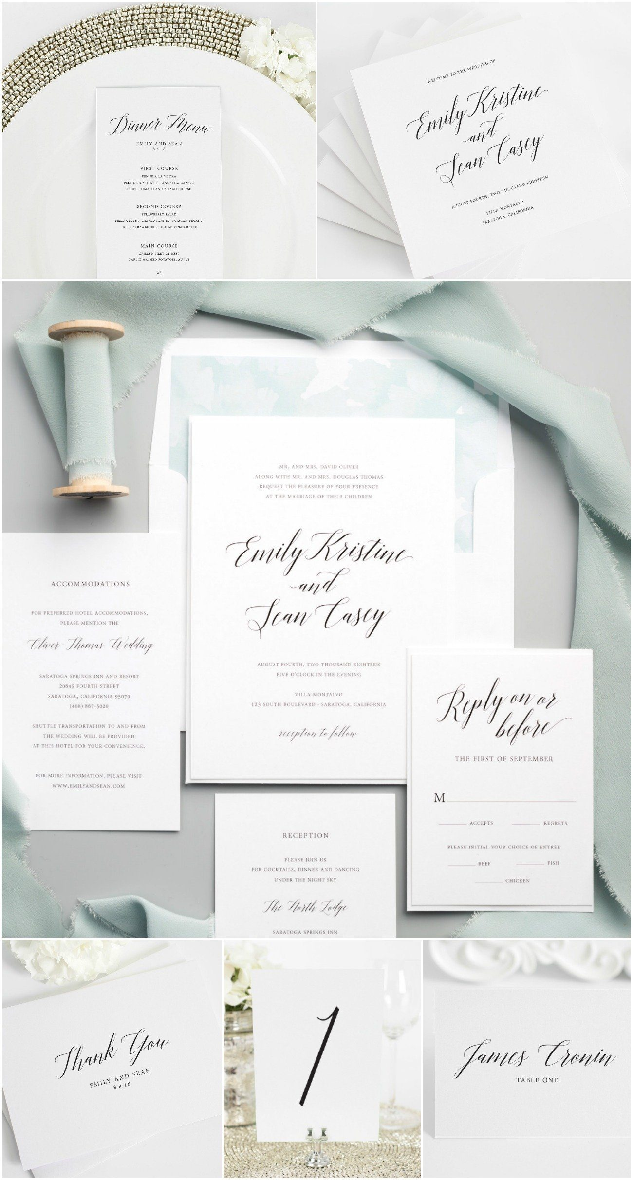 Garden Romance Wedding Accessories Wedding Invitations