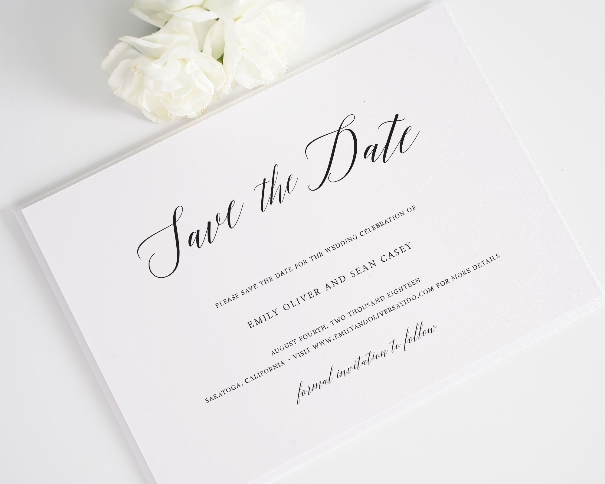 Garden Romance Save the Dates
