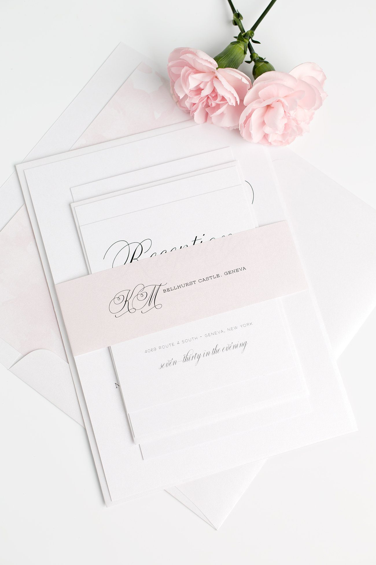 Light Pink Garden Wedding Invitations