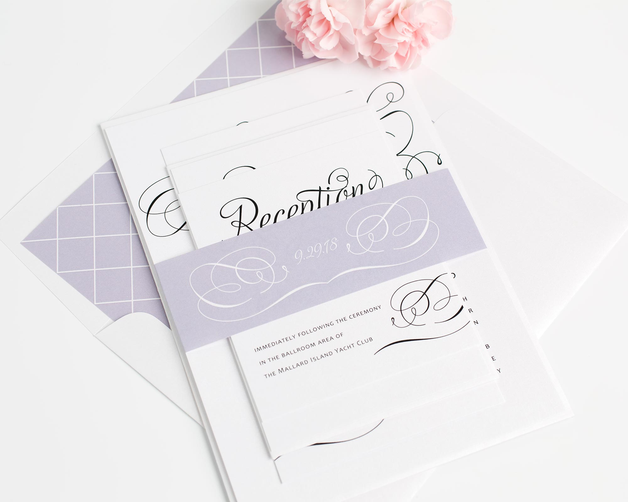 Fairytale Wedding Invitations in Purple