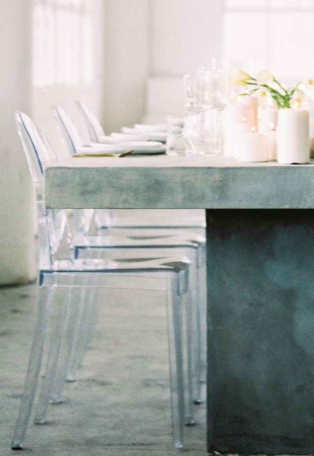 Ghost Chairs and Concrete Tables - Sally Pinera