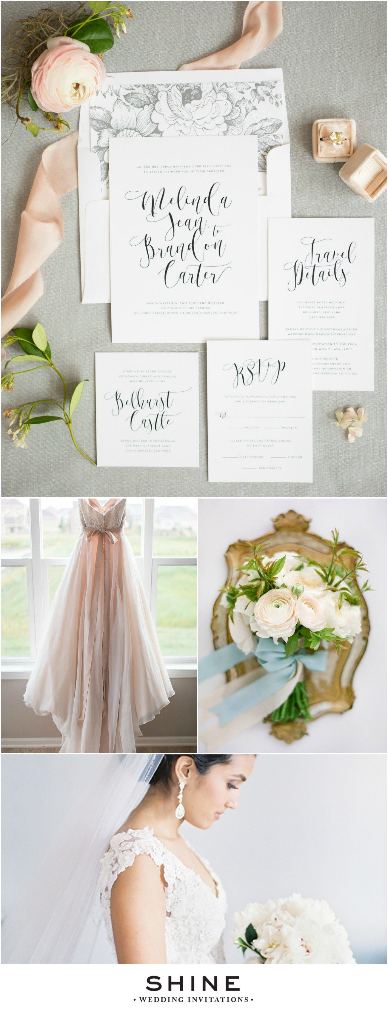Light Gray Garden Wedding Inspiration