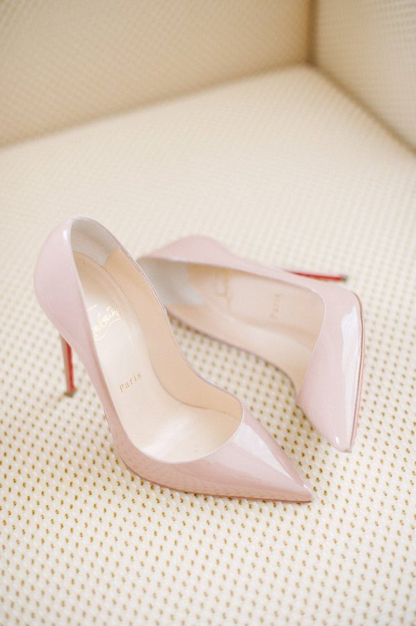 Christian Louboutin Blush Wedding Heels