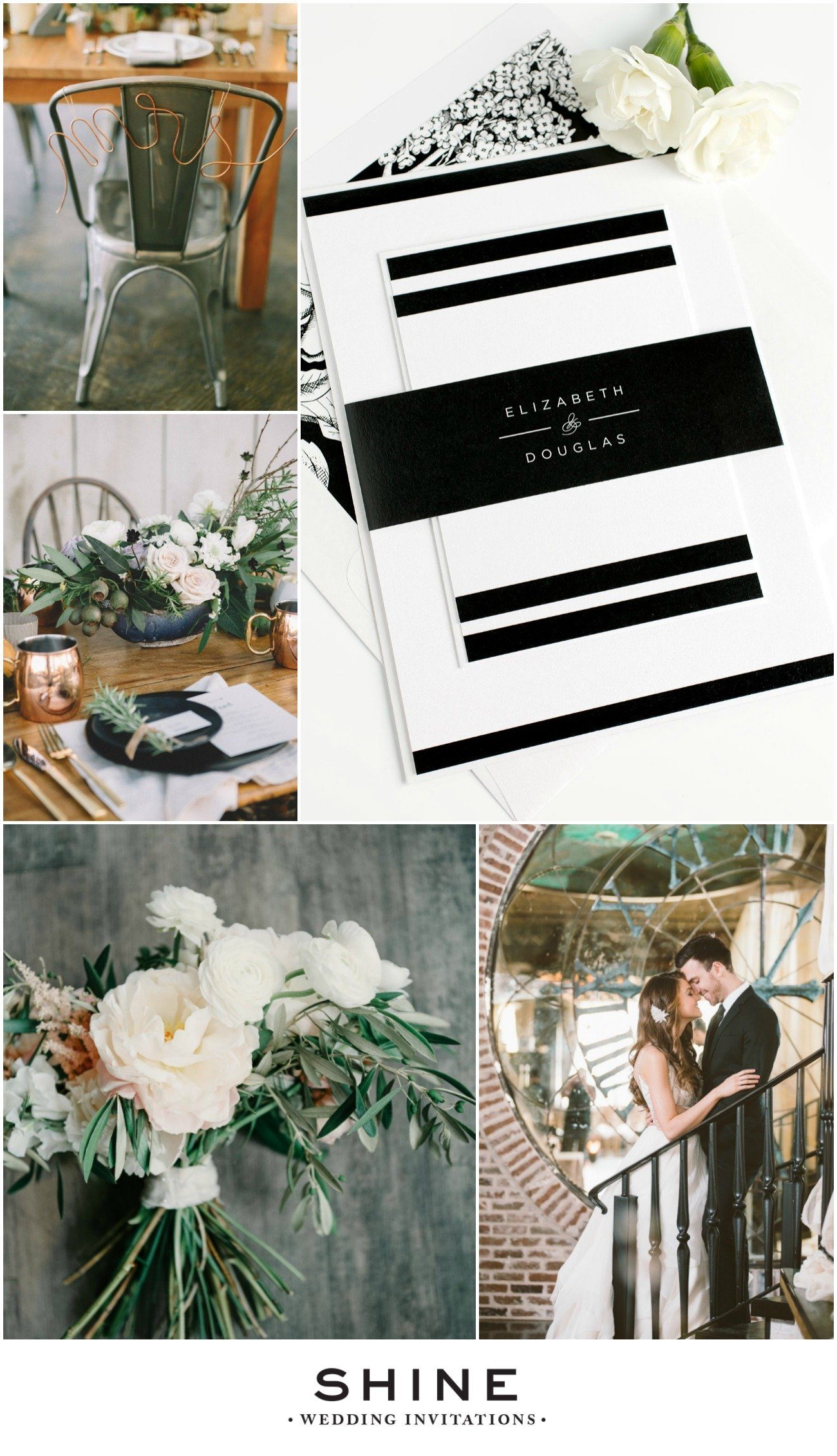 Modern Industrial Wedding Inspiration