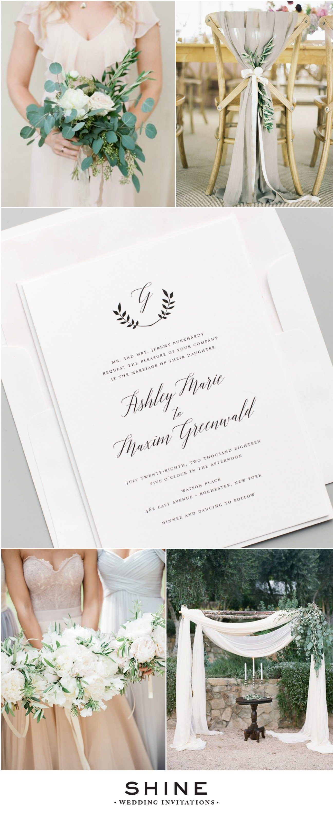 Elegant Italian Wedding Inspiration Wedding Invitations