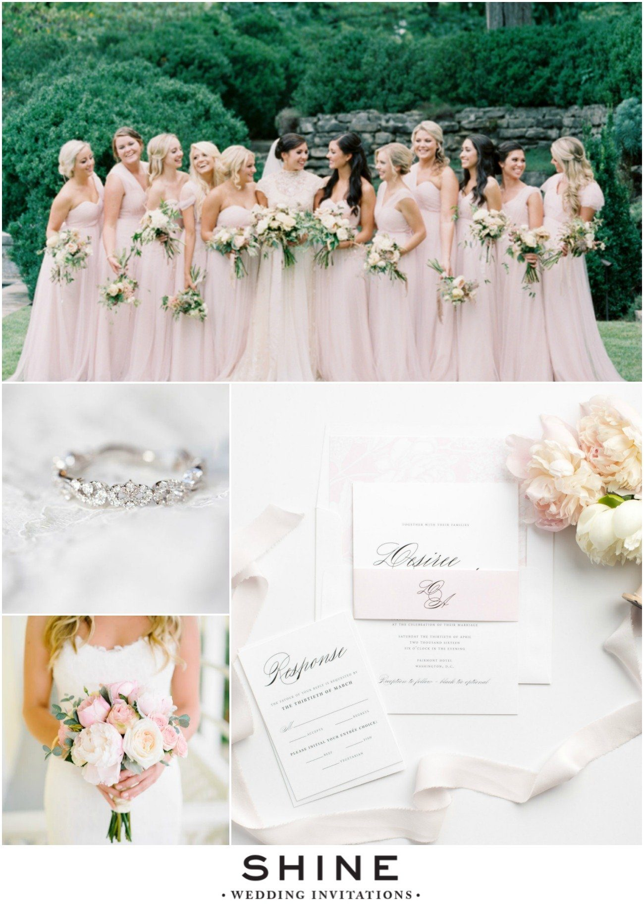 Timeless and Elegant Wedding Inspiration in Blush