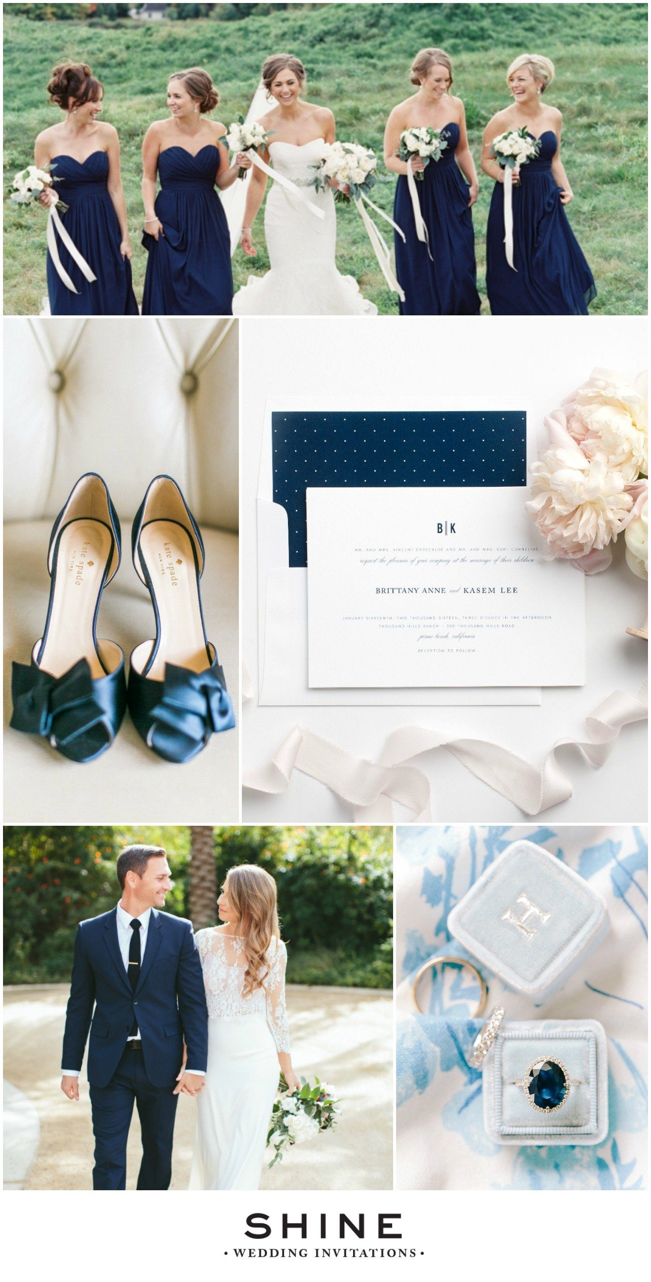 Elegant Navy Blue Wedding Inspiration